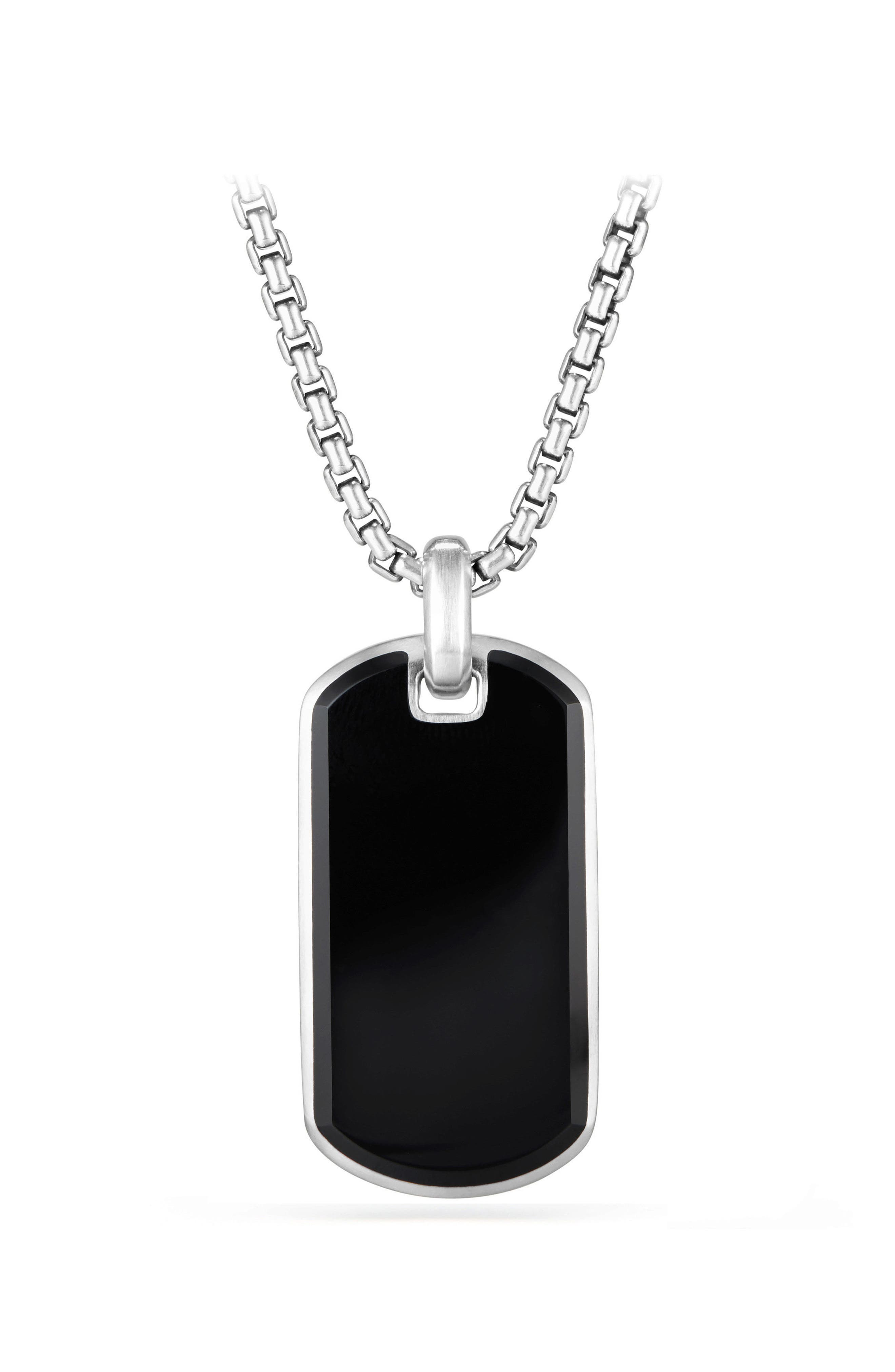 Exotic Black Onyx Stone Tag,                             Main thumbnail 1, color,                             Black Onyx