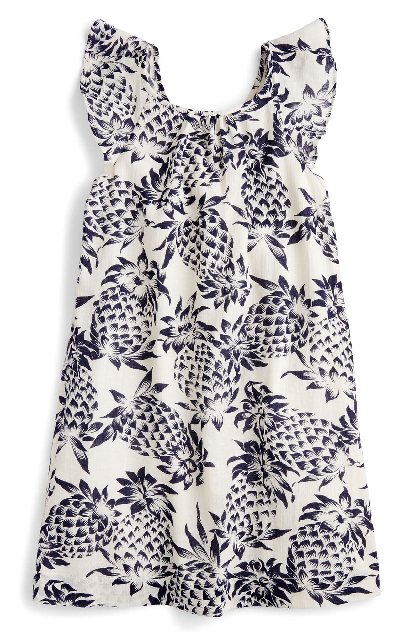 Maisie Pineapple Print Dress,                         Main,                         color, Champagne Indigo