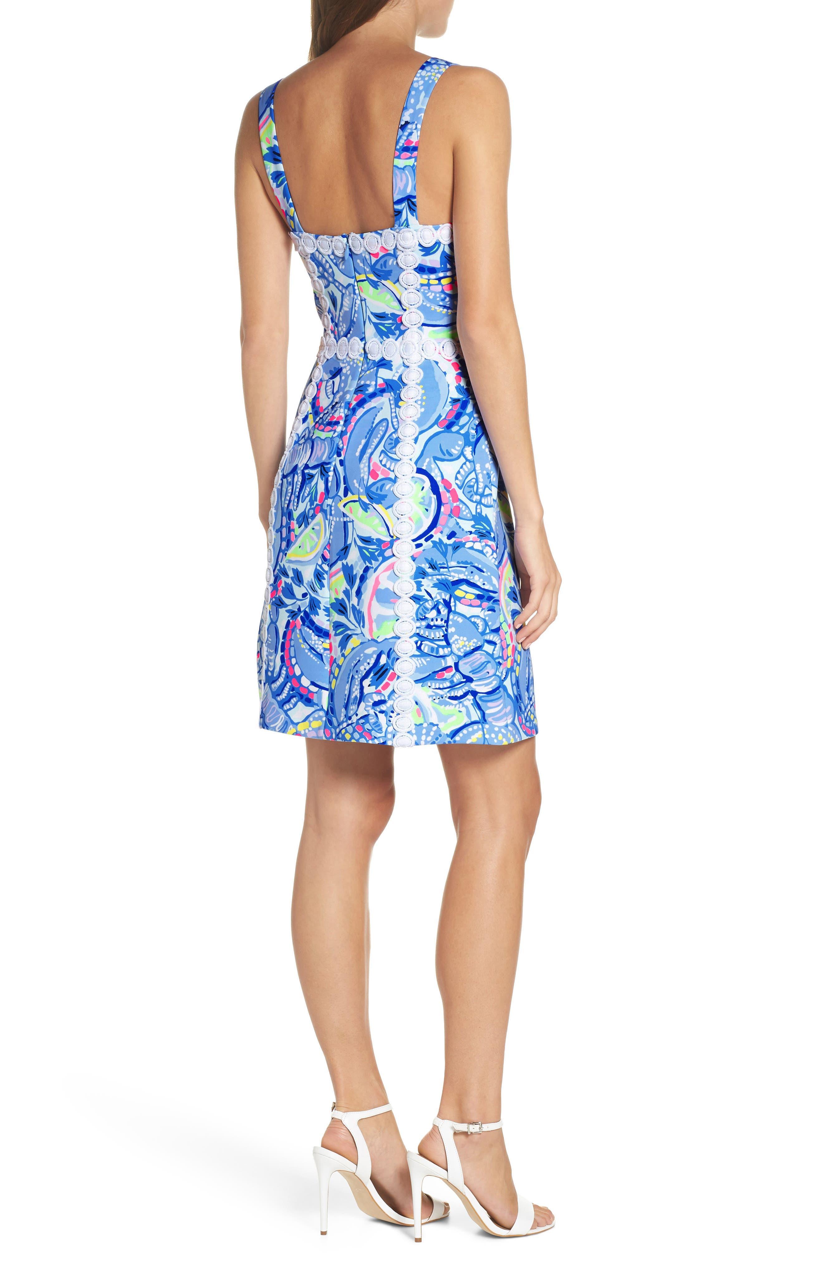 Janelle Stretch Sheath Dress,                             Alternate thumbnail 2, color,                             Blue Peri Pinch