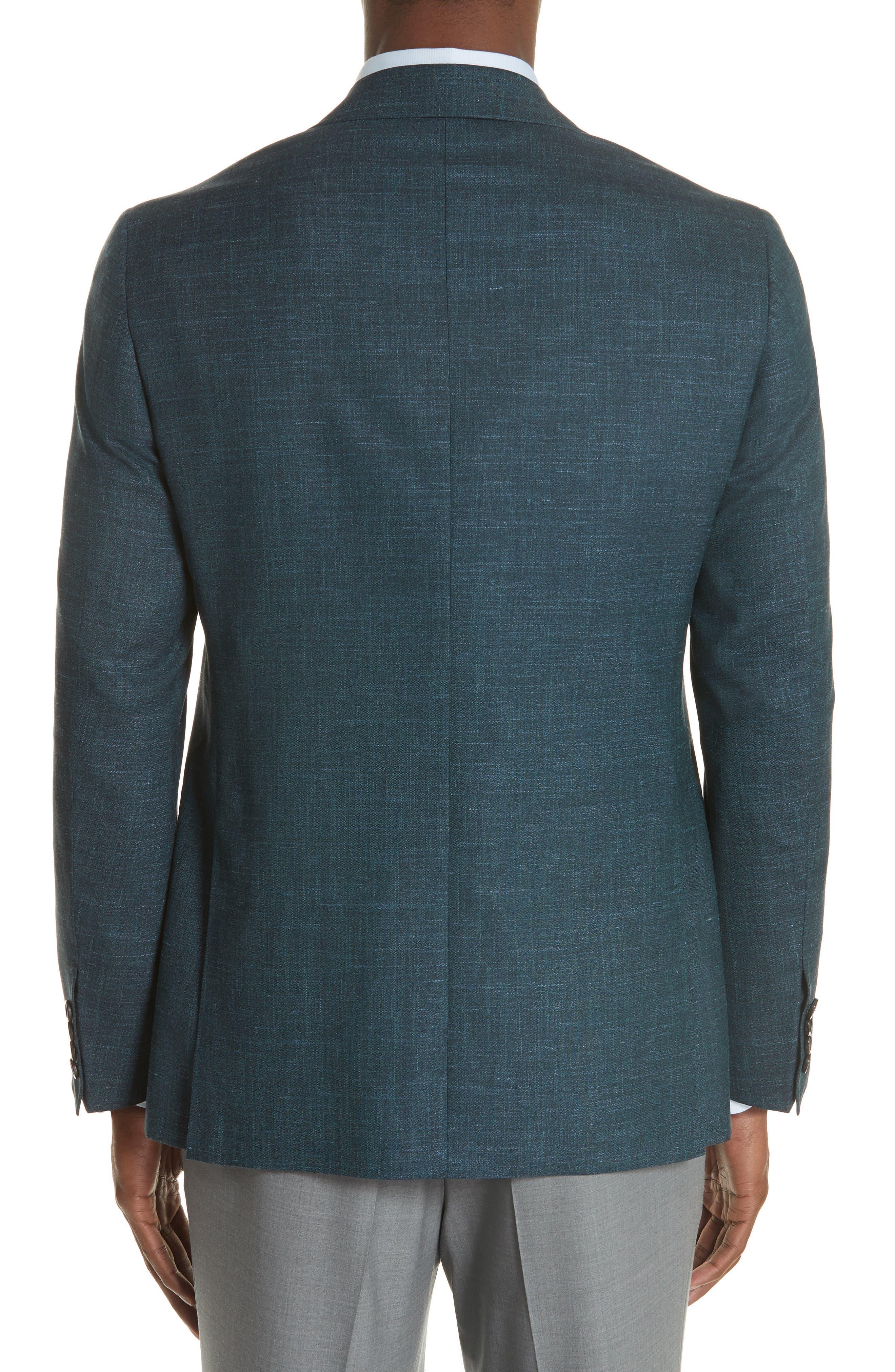 Classic Fit Wool Blend Blazer,                             Alternate thumbnail 2, color,                             Green