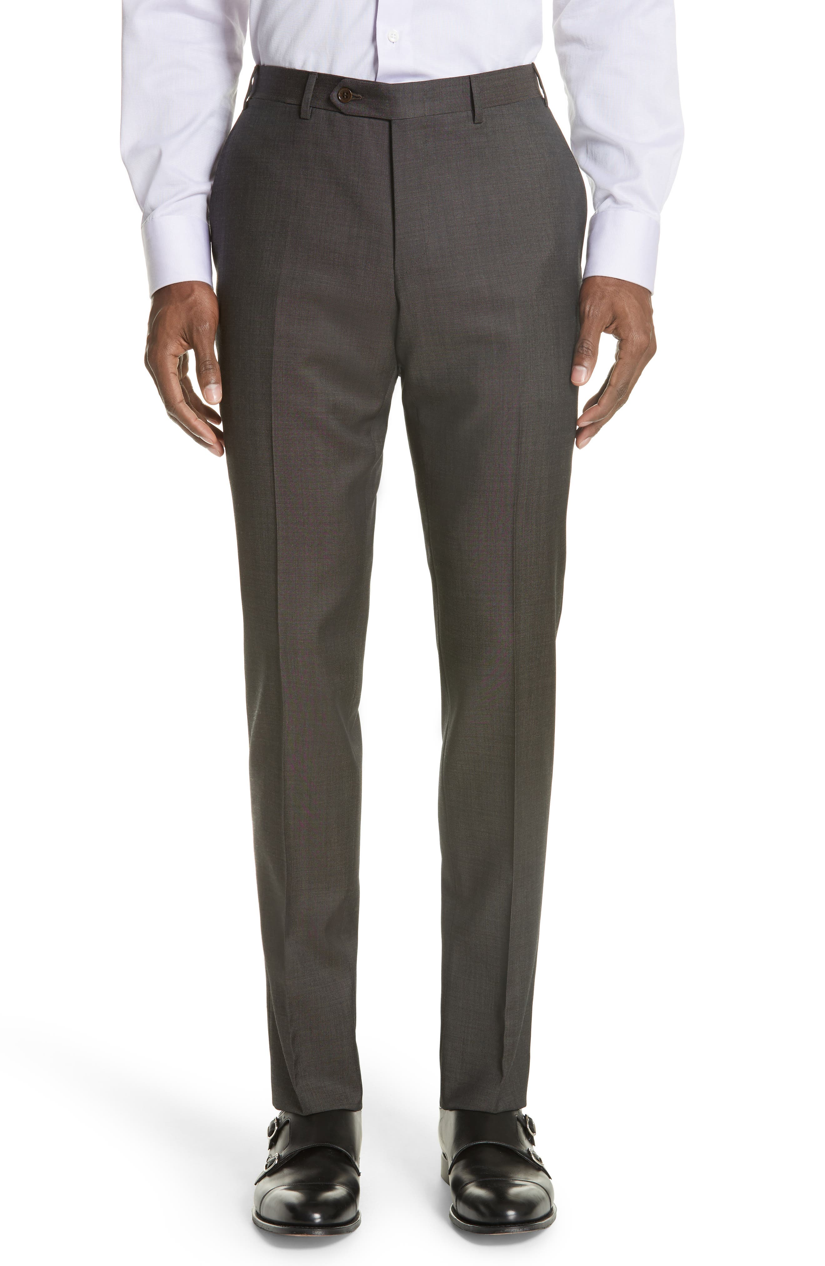 Classic Fit Solid Wool Suit,                             Alternate thumbnail 6, color,                             Grey