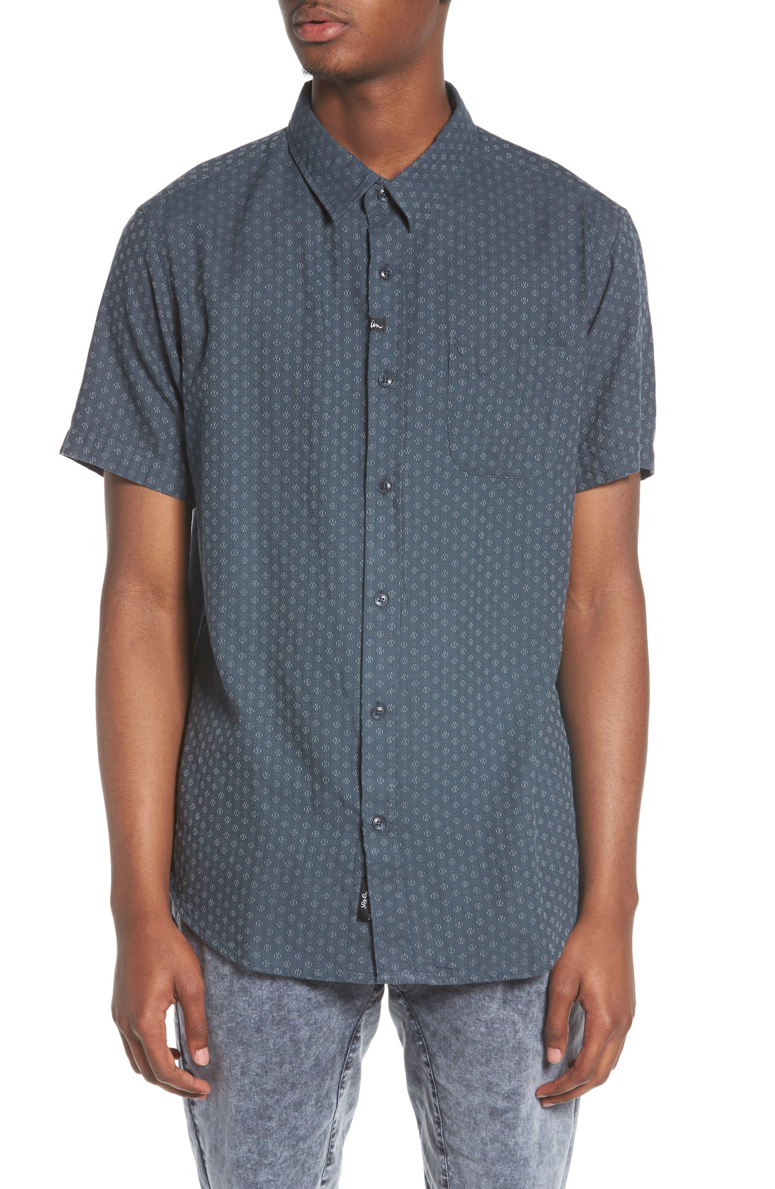 Circuit Woven Shirt,                             Main thumbnail 1, color,                             Dark Teal