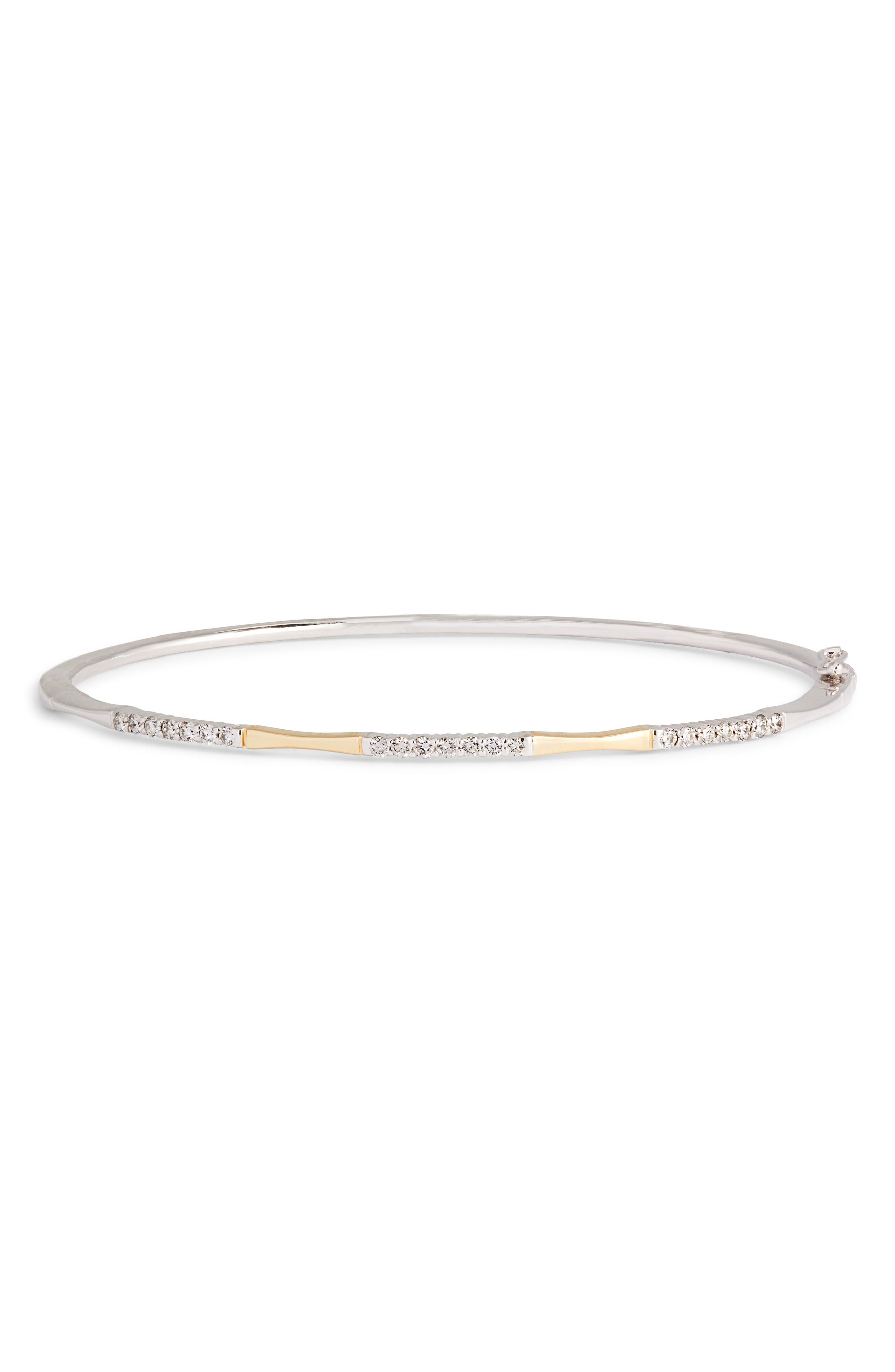 Two-Tone Diamond Station Bracelet,                         Main,                         color, Yellow Gold/ White Gold