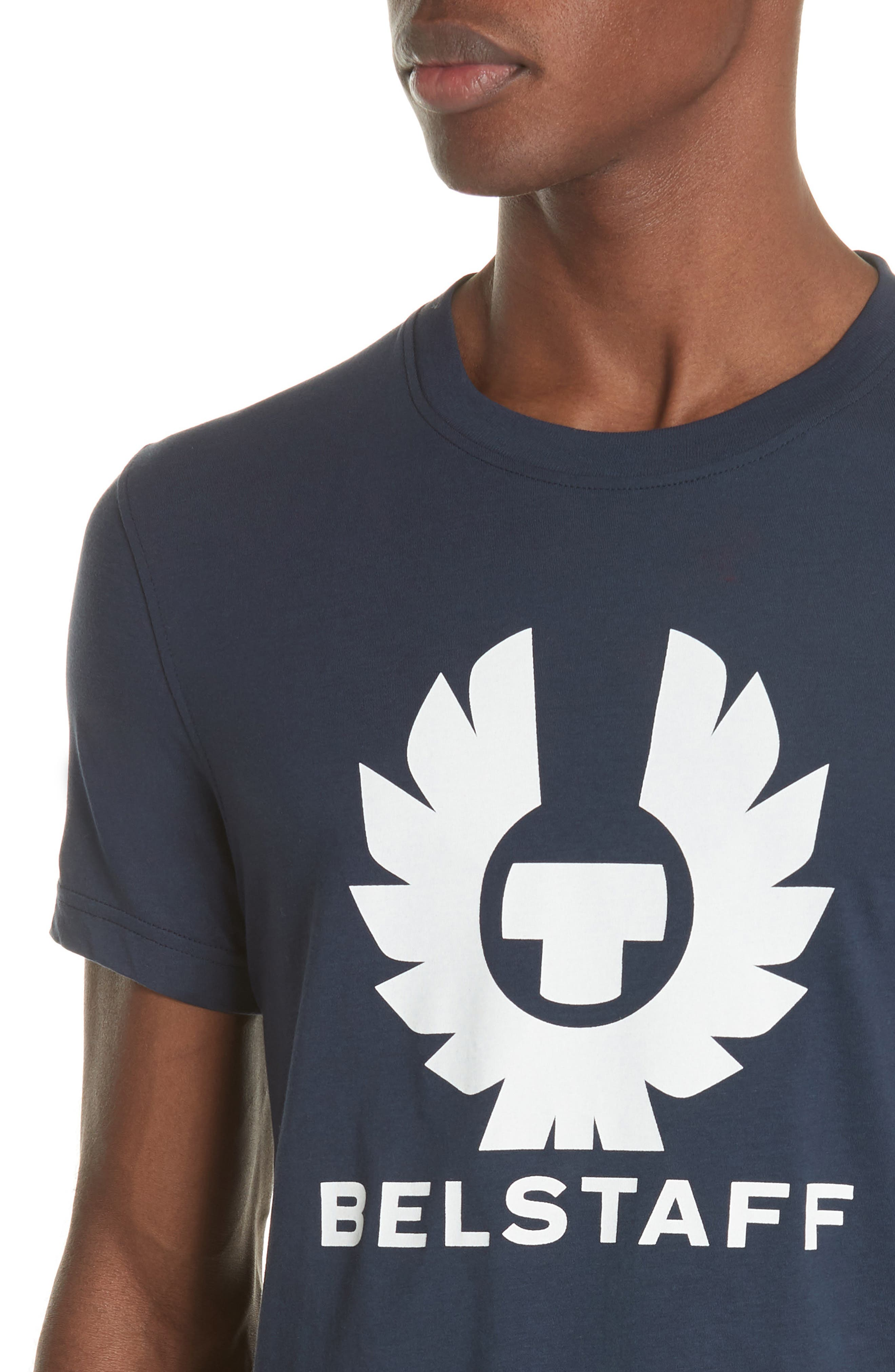 Logo Graphic Jersey T-Shirt,                             Alternate thumbnail 4, color,                             Deep Navy