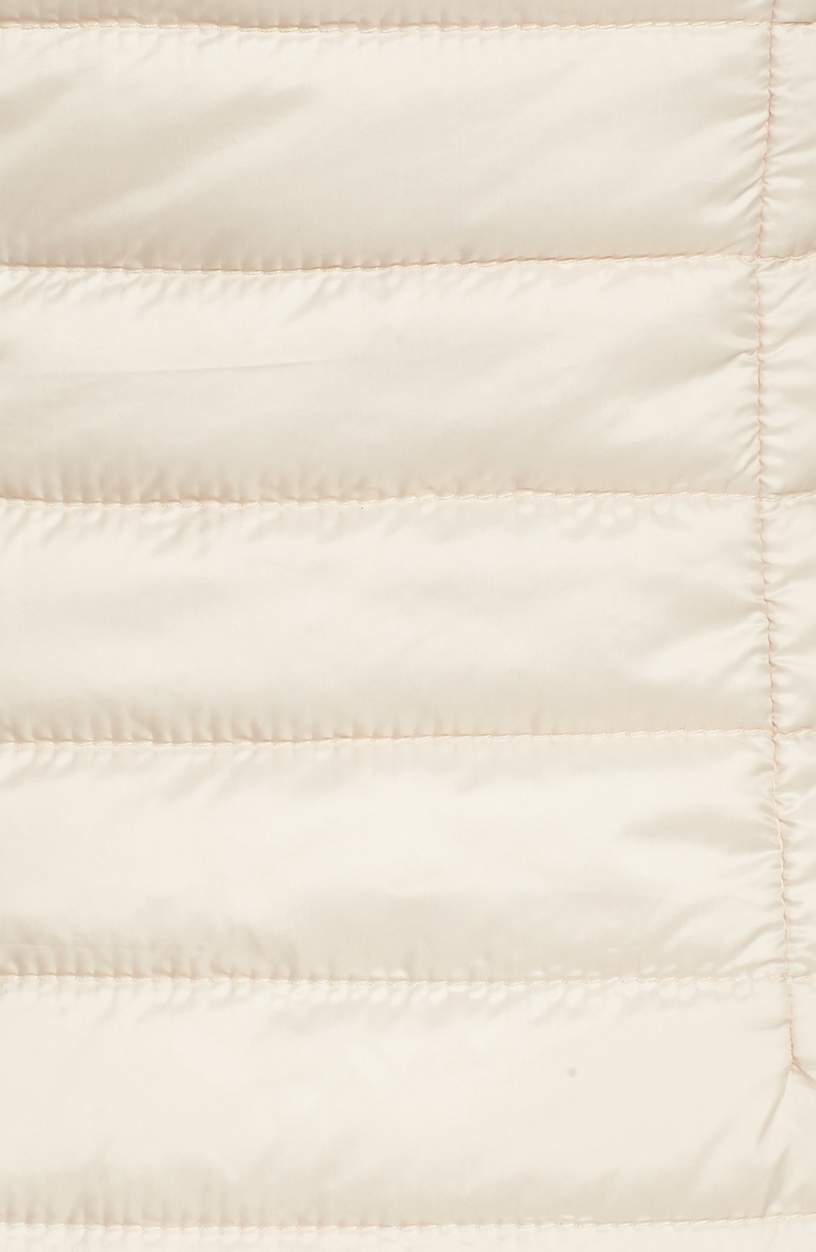 Faux Fur Reversible Hooded Vest,                             Alternate thumbnail 7, color,                             Custard
