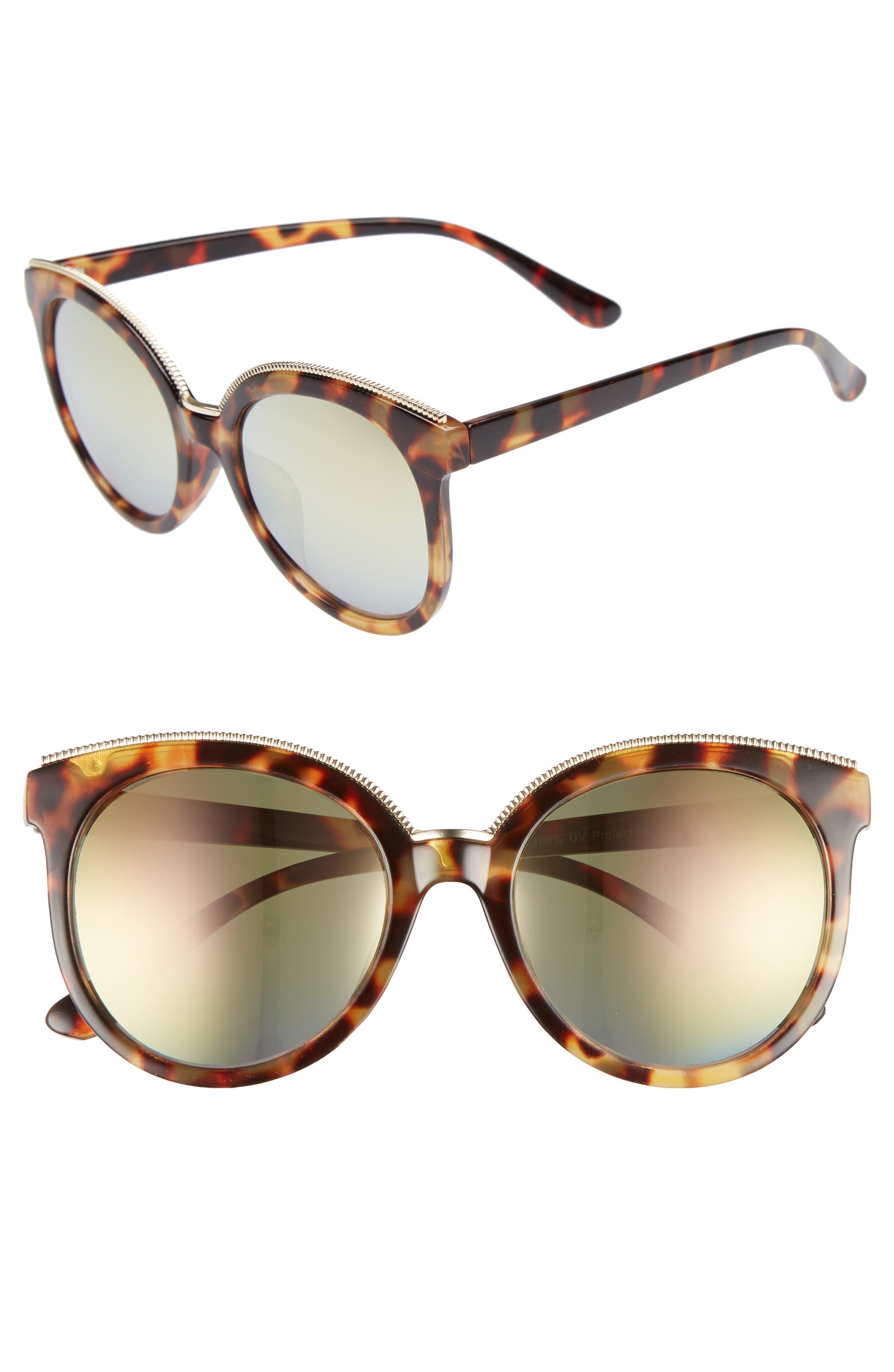 BP. 56mm Metal Trim Round Sunglasses