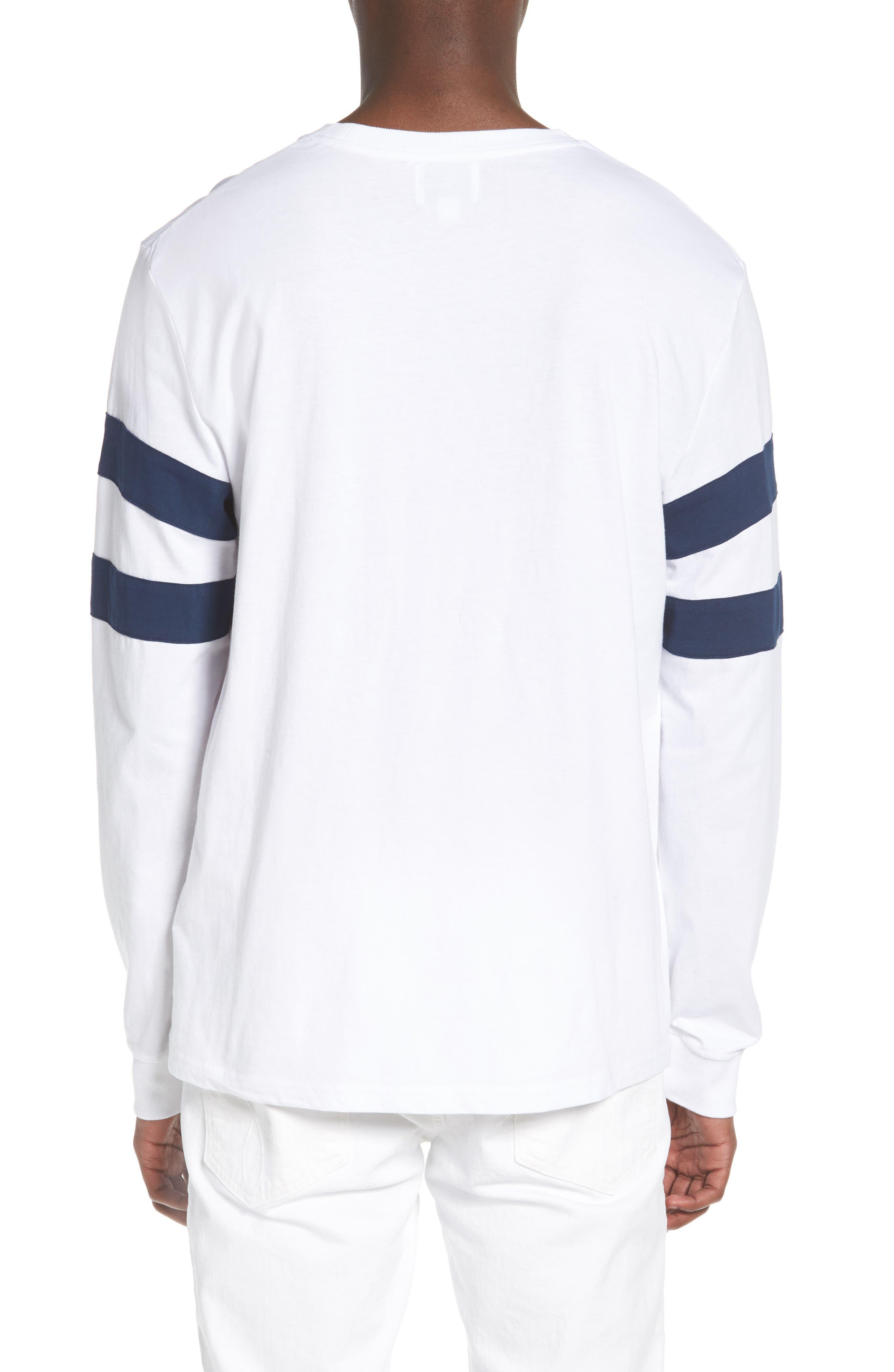 Stripe Sleeve Logo T-Shirt,                             Alternate thumbnail 2, color,                             Standard White
