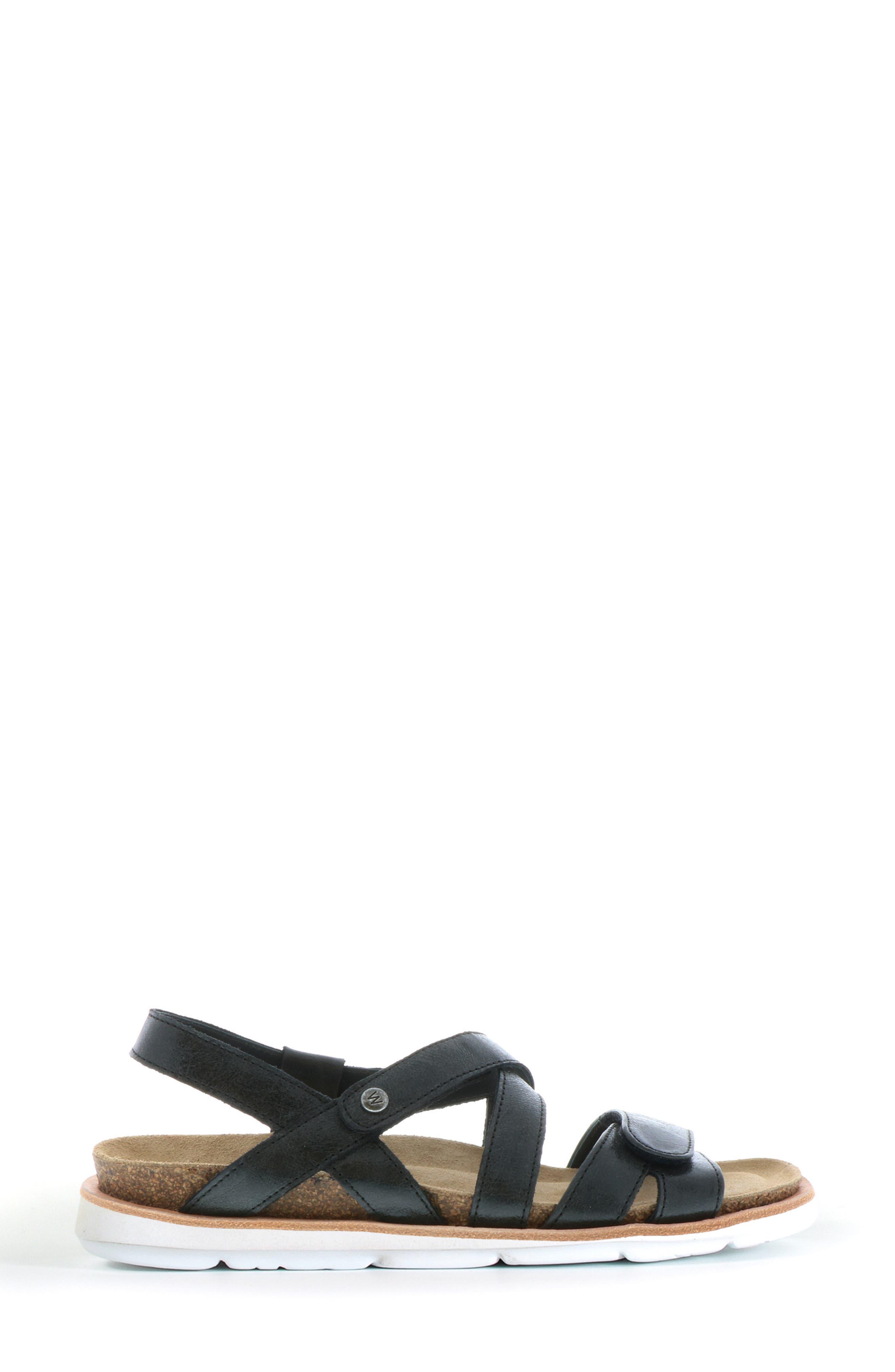 Sunstone Sandal,                             Alternate thumbnail 3, color,                             Black Summer