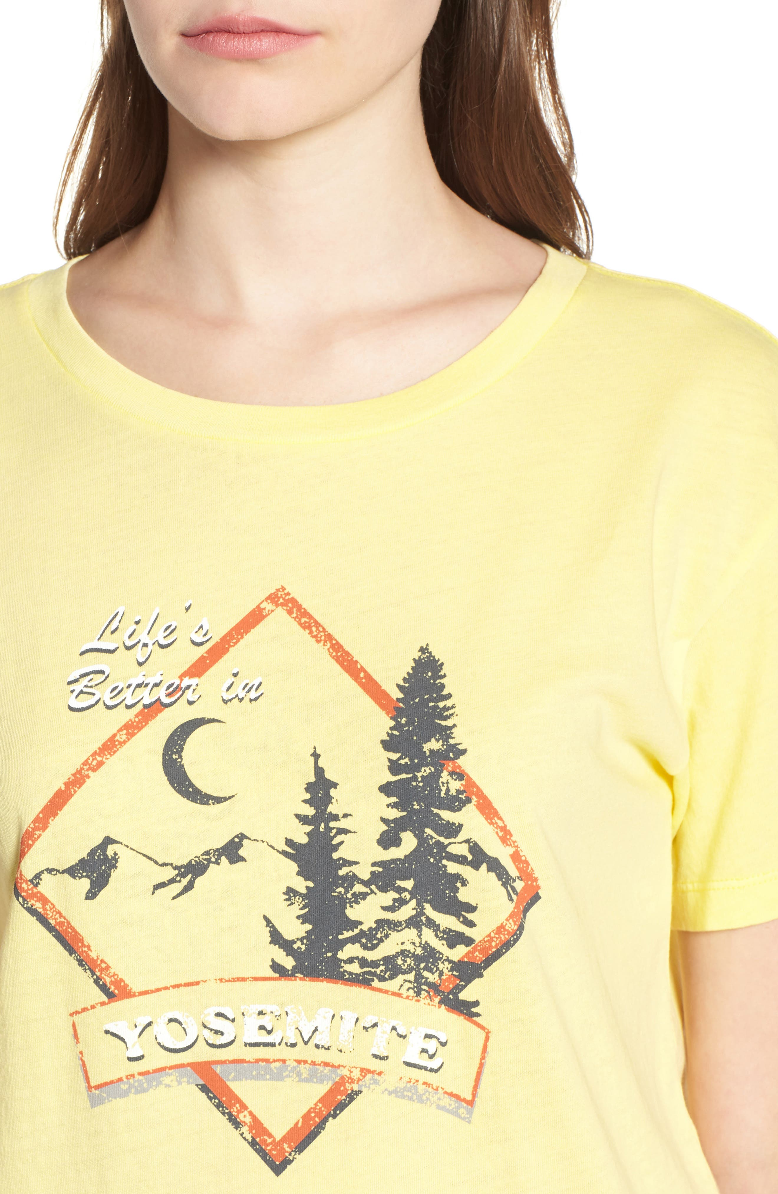Yosemite Graphic Tee,                             Alternate thumbnail 4, color,                             Washed Yellow