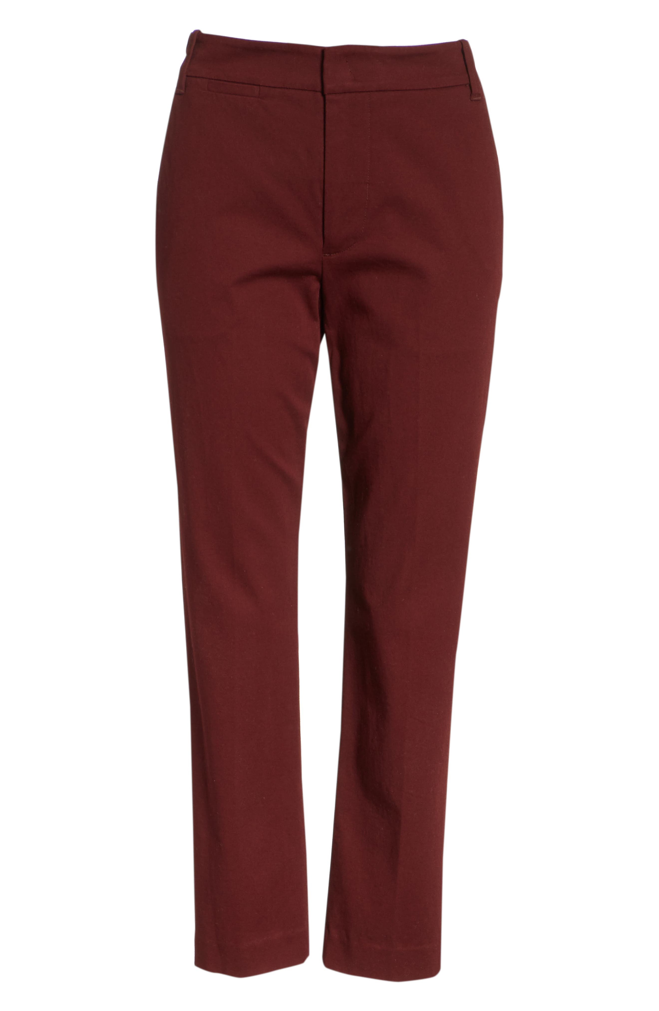Coin Pocket Chino Pants,                             Alternate thumbnail 6, color,                             Black Cherry