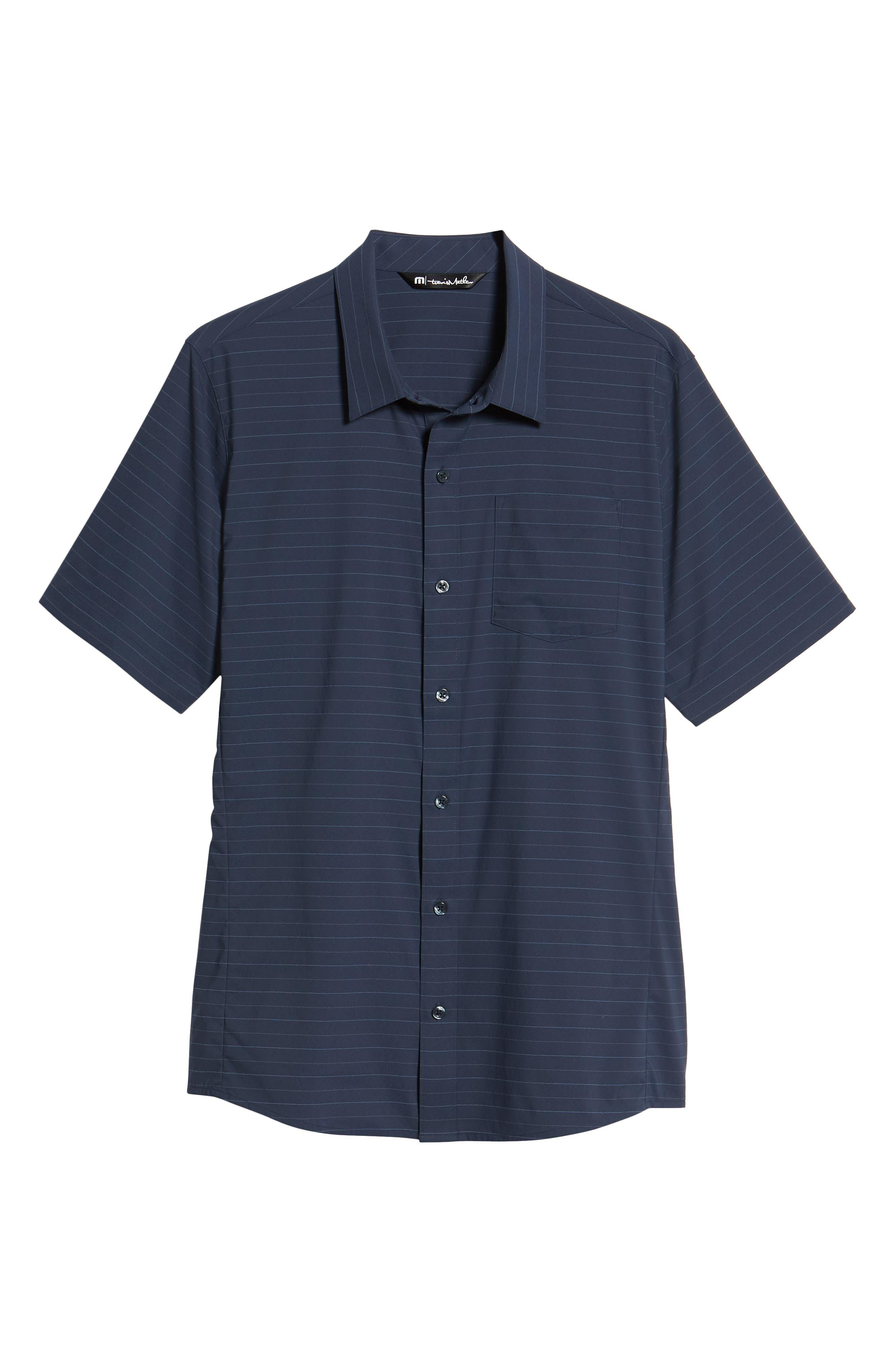 Vagabond Regular Fit Sport Shirt,                             Alternate thumbnail 6, color,                             Heather Blue Nights