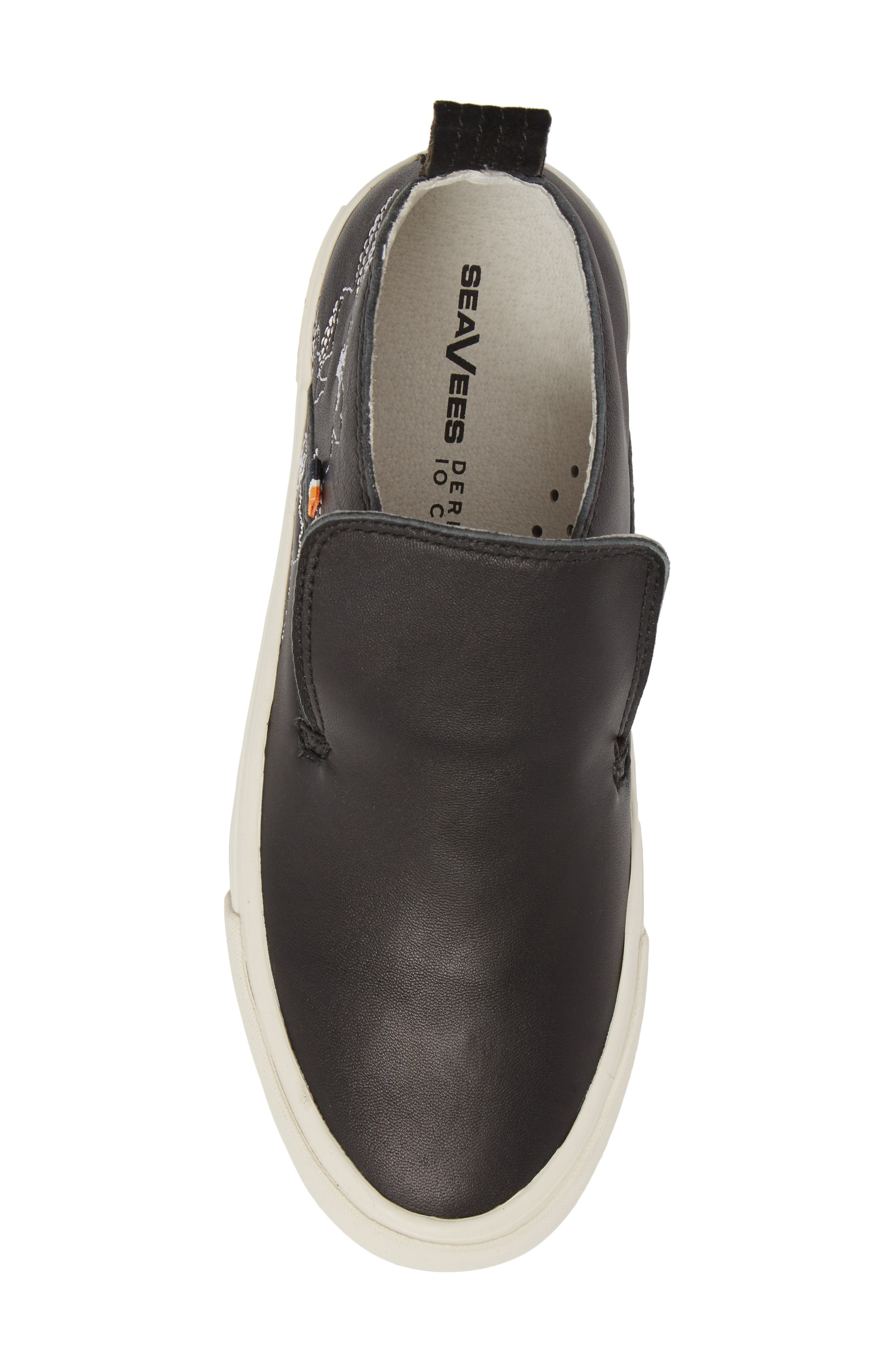 x Derek Lam 10 Crosby Huntington Middie Sneaker,                             Alternate thumbnail 5, color,                             Black Leather