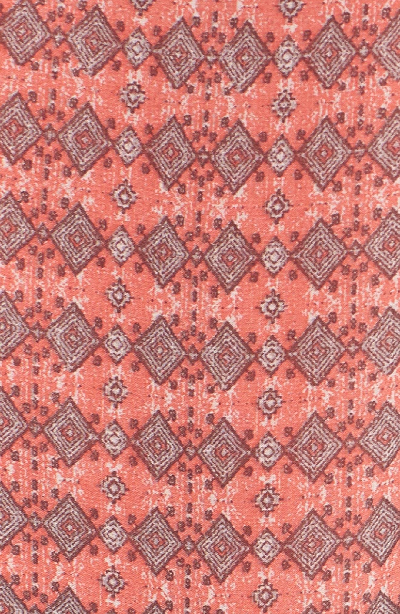 Jenna Print Peasant Dress,                             Alternate thumbnail 6, color,                             Pink Multi