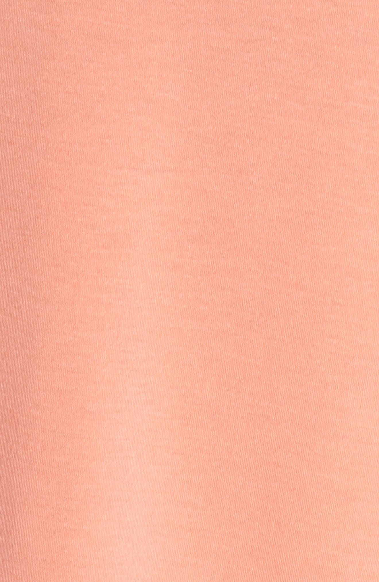Twist Cutout Back Tank,                             Alternate thumbnail 6, color,                             Peach Pink