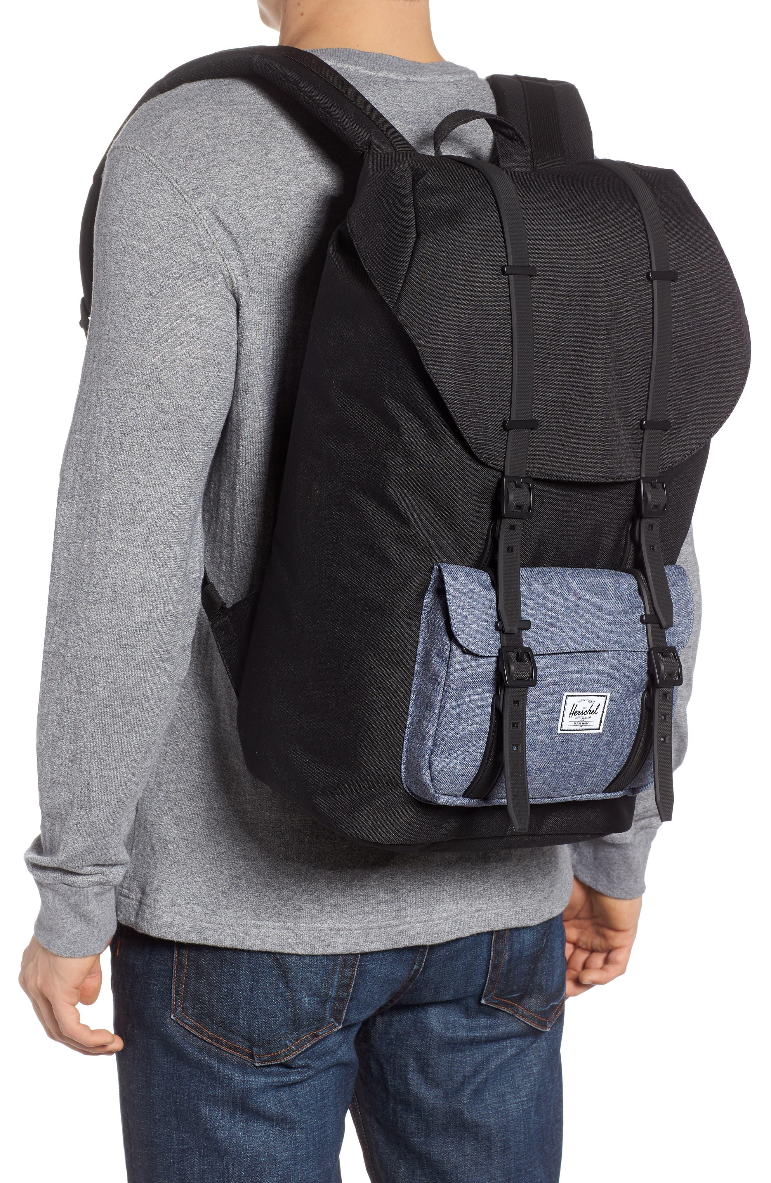Little America - Chambray Backpack,                             Alternate thumbnail 2, color,                             Black/ Dark Chambray