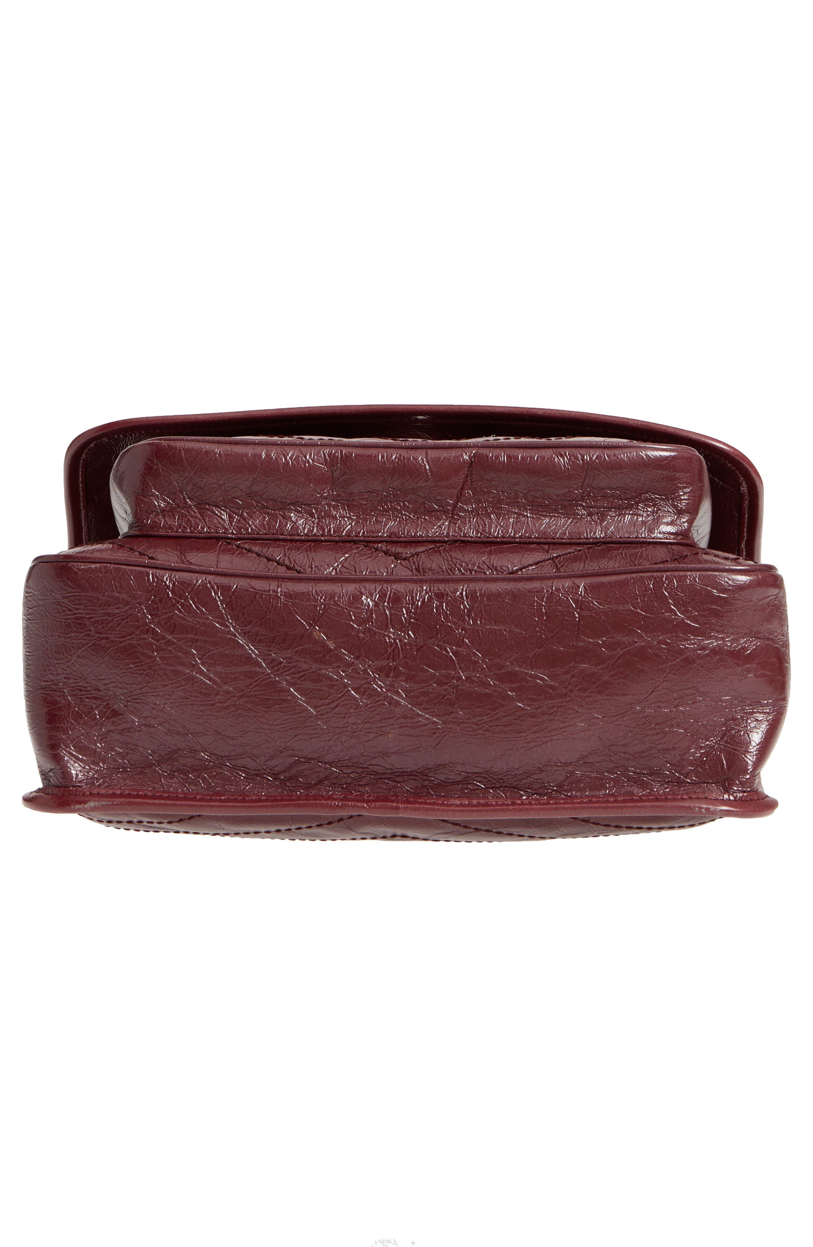 Medium Niki Leather Shoulder Bag,                             Alternate thumbnail 6, color,                             Rouge Legion