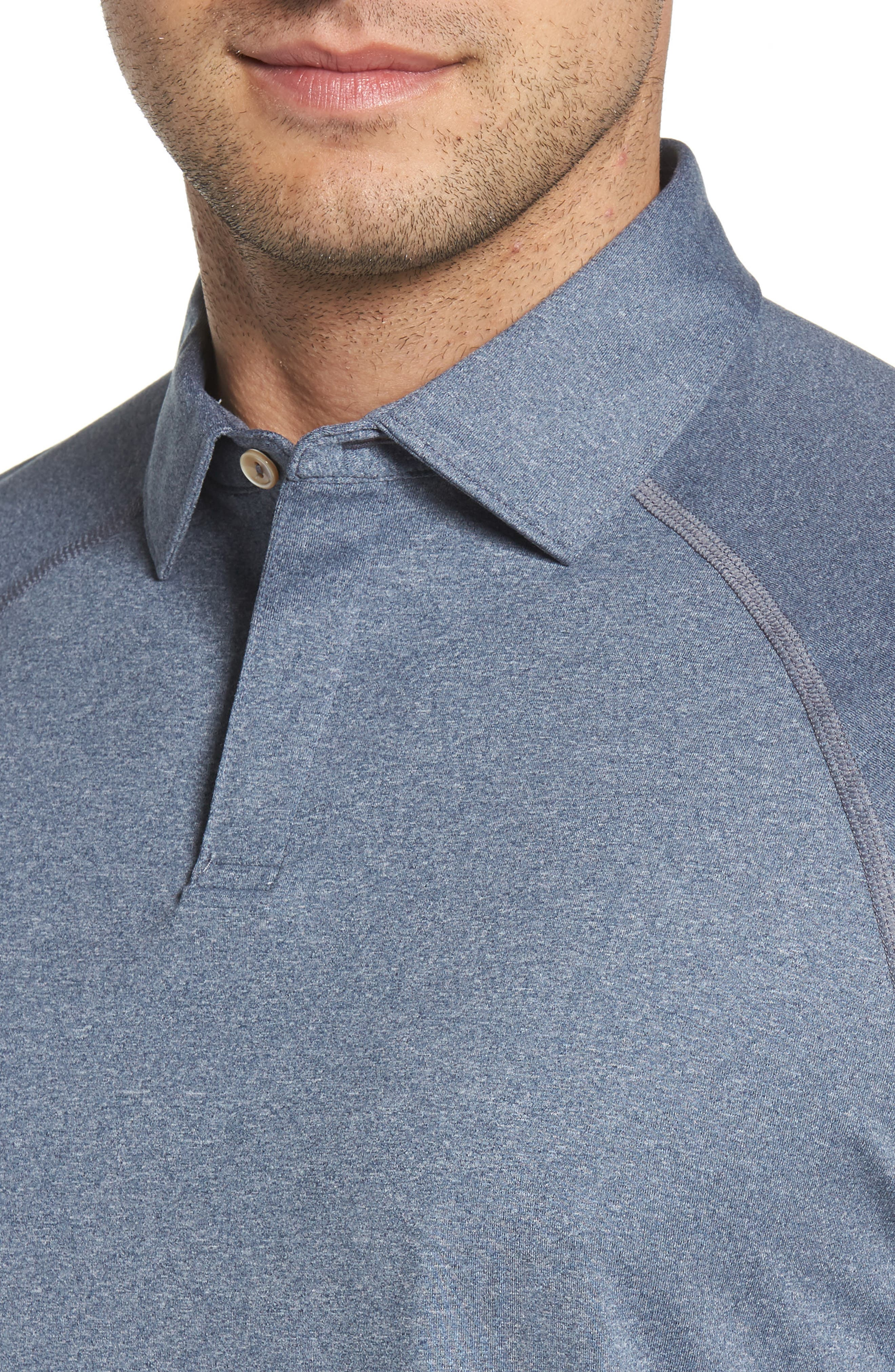 Crown Sport Amsterdam Technical Polo,                             Alternate thumbnail 4, color,                             Yankee Blue
