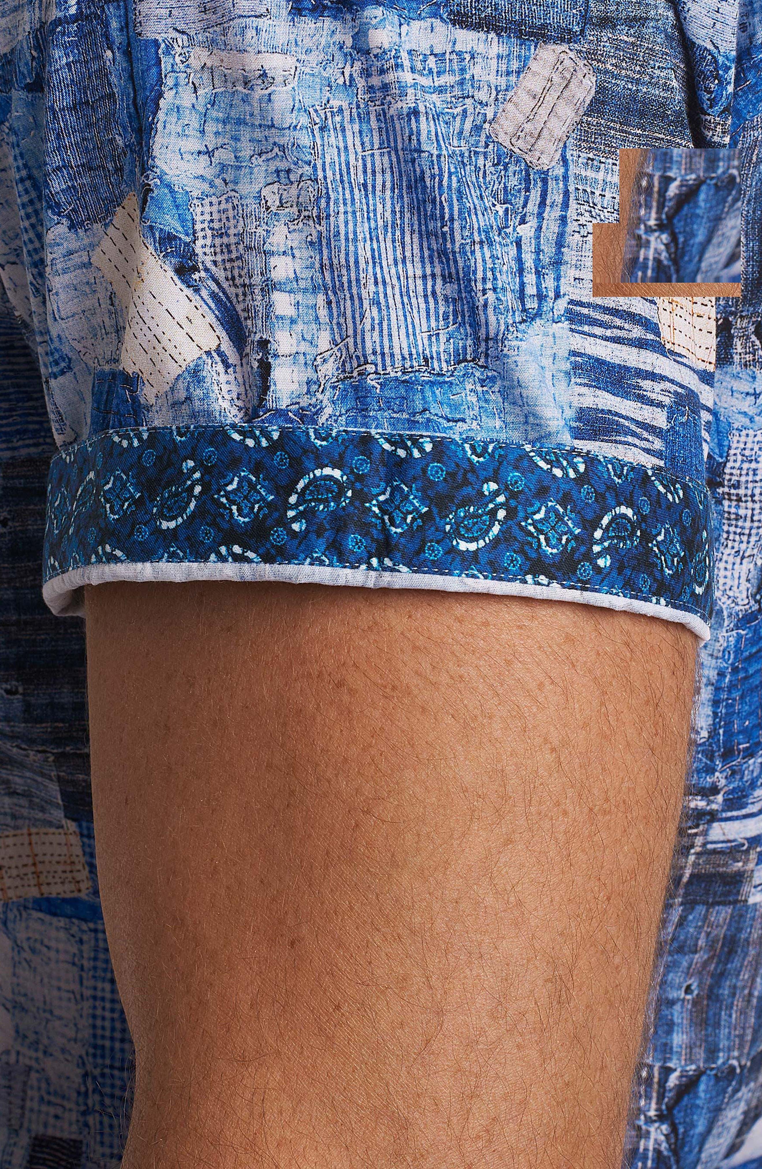 Canberra Classic Fit Sport Shirt,                             Alternate thumbnail 4, color,                             Blue