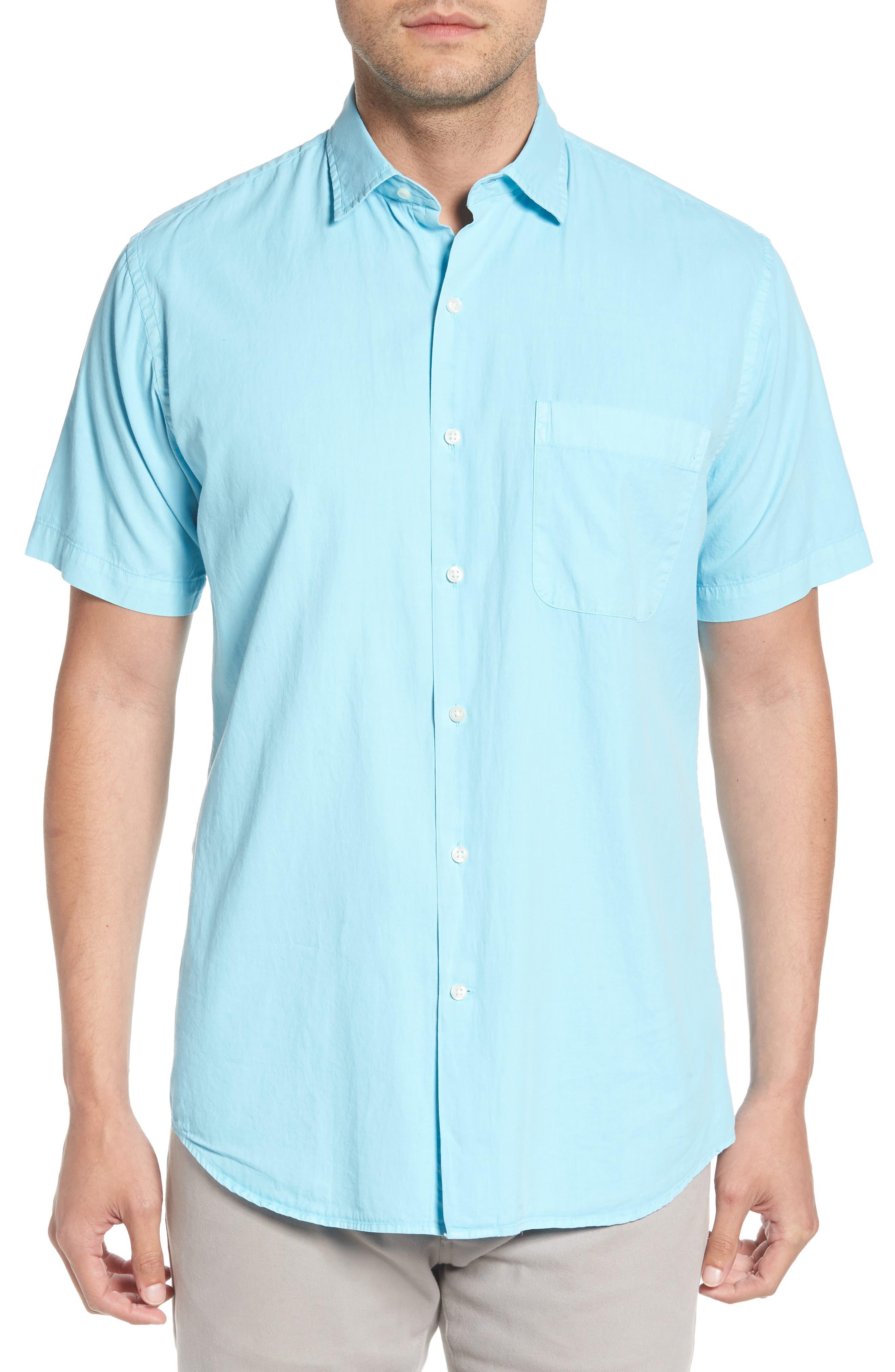 Peter Millar Seaside Washed Cotton & Silk Sport Shirt