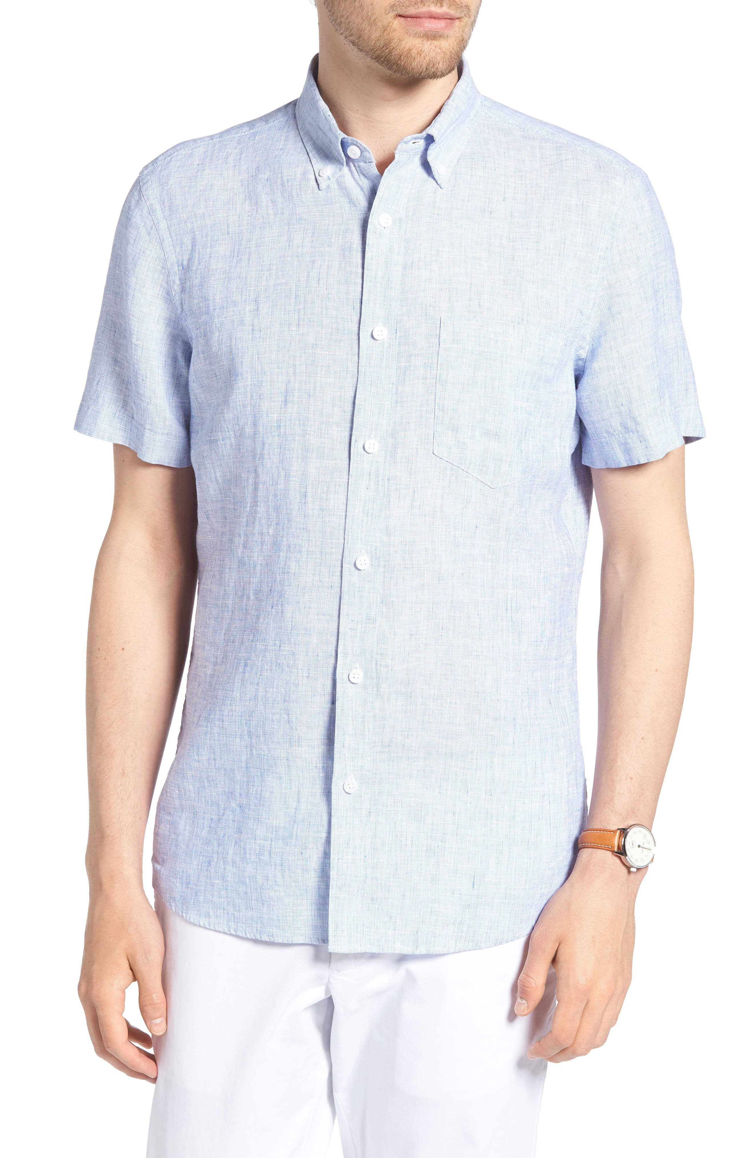 1901 Trim Fit Linen Sport Shirt