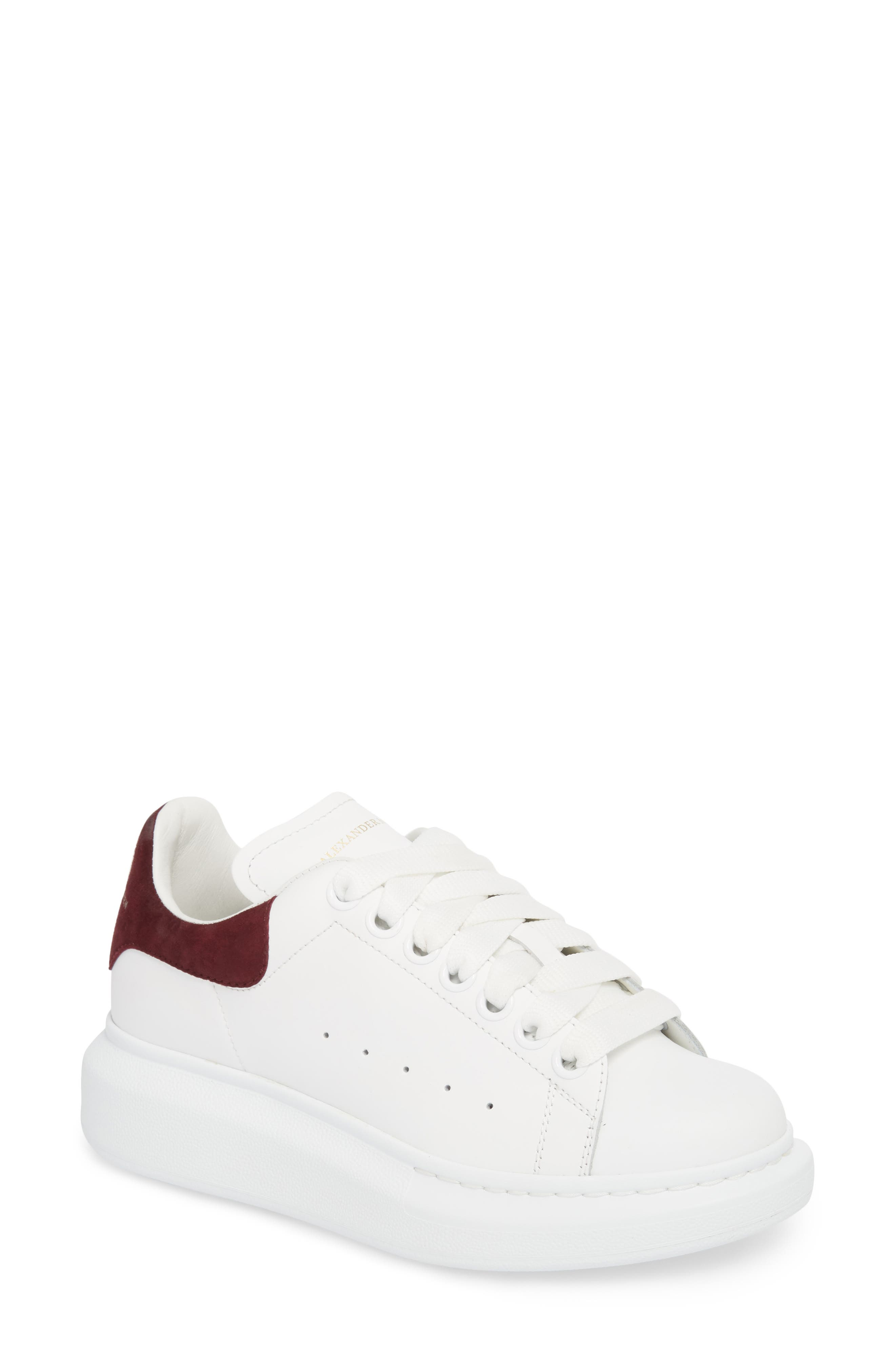 cheap sale finishline McQ Alexander McQueen Burgundy New Knitted Sneakers the cheapest sale online under $60 for sale discount eastbay clearance visit 7QaJ5A
