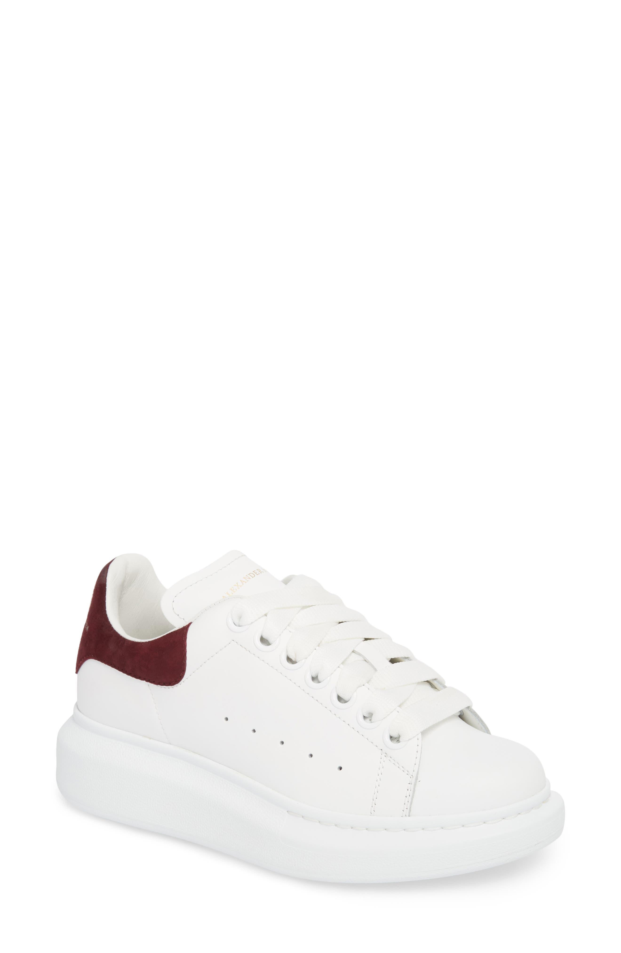 Sneaker,                             Main thumbnail 1, color,                             White/ Burgundy