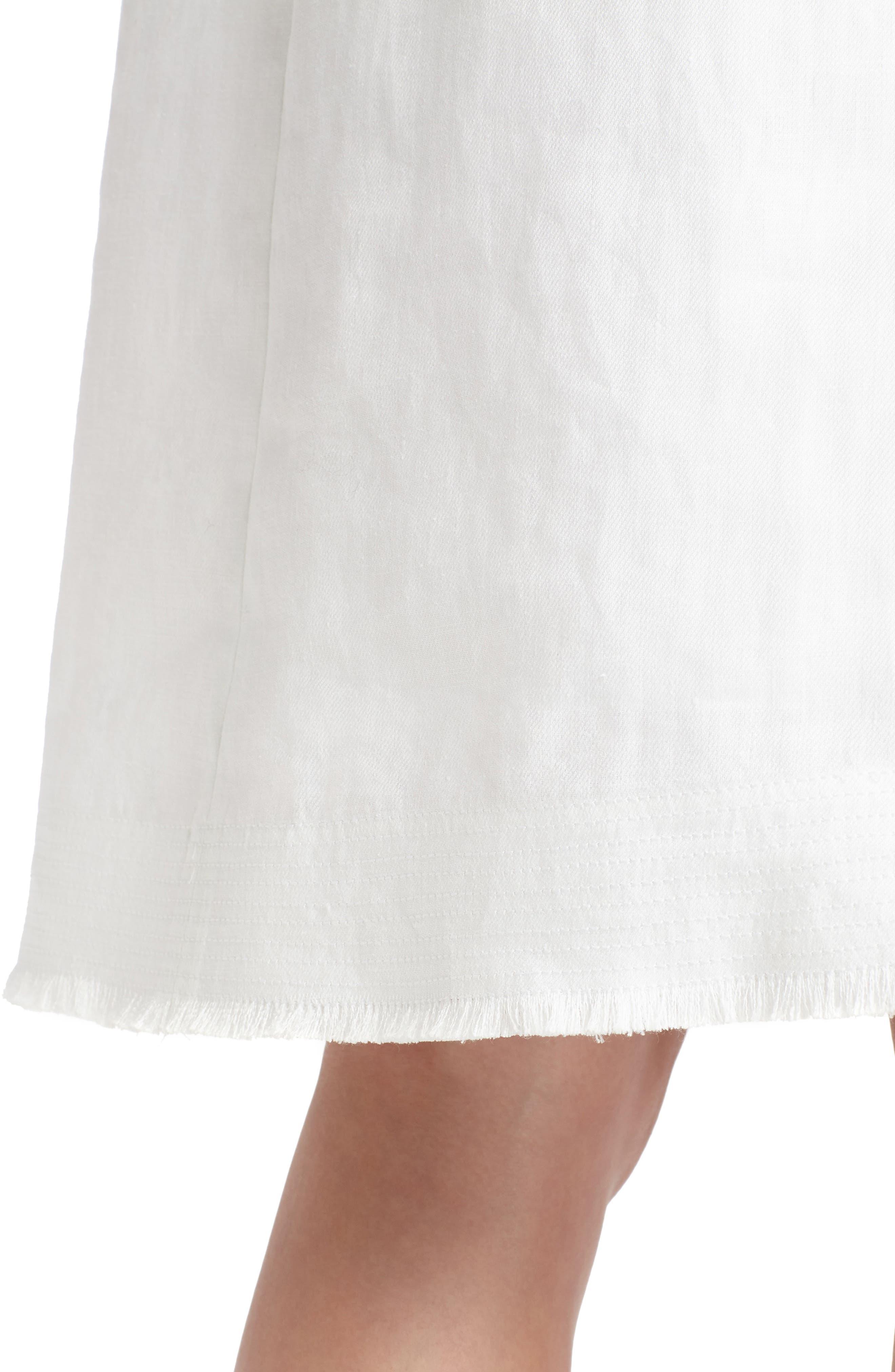 Hana Linen Dress,                             Alternate thumbnail 4, color,                             White