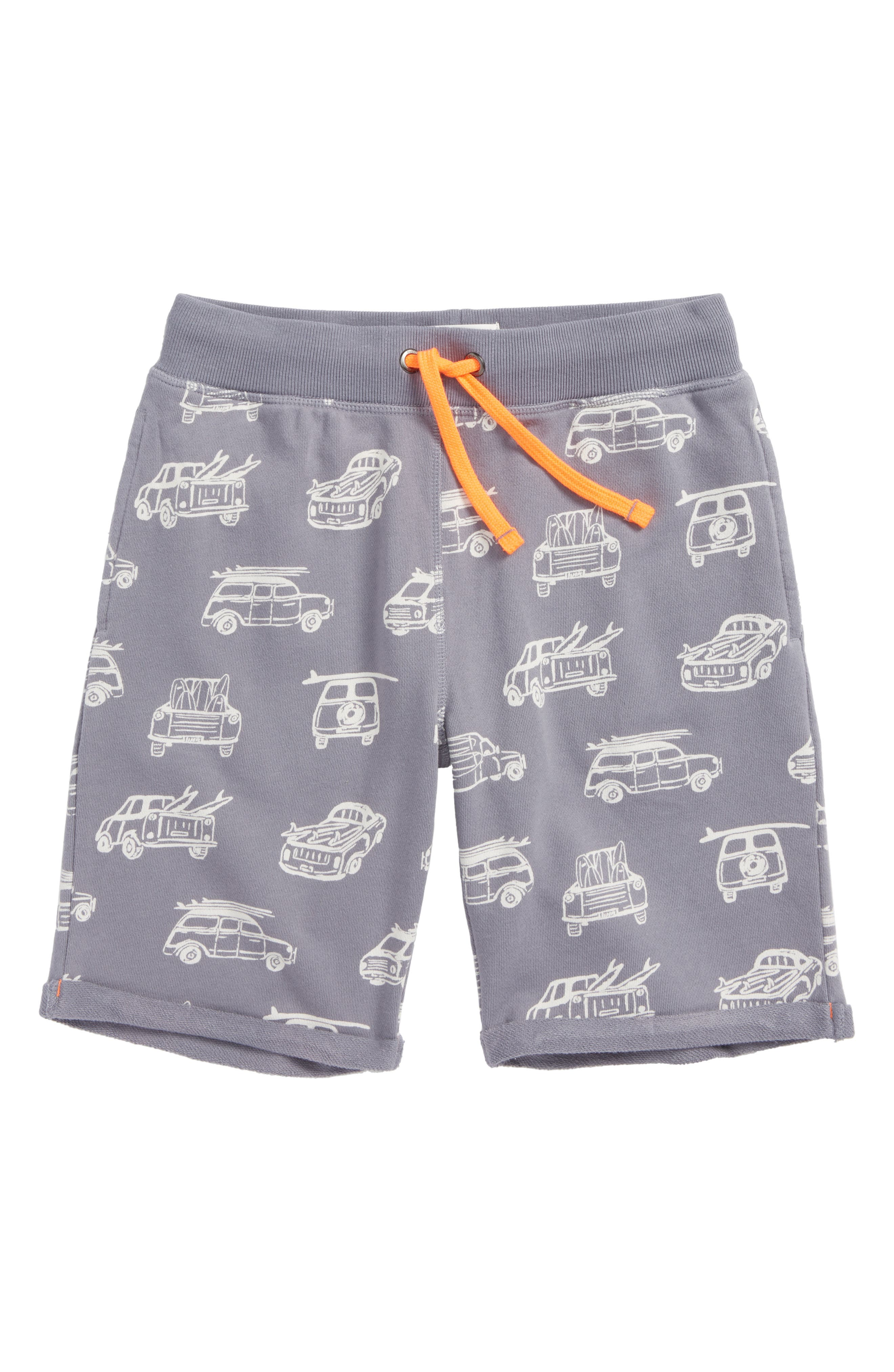 French Terry Shorts,                         Main,                         color, Raft Grey Surf Vans