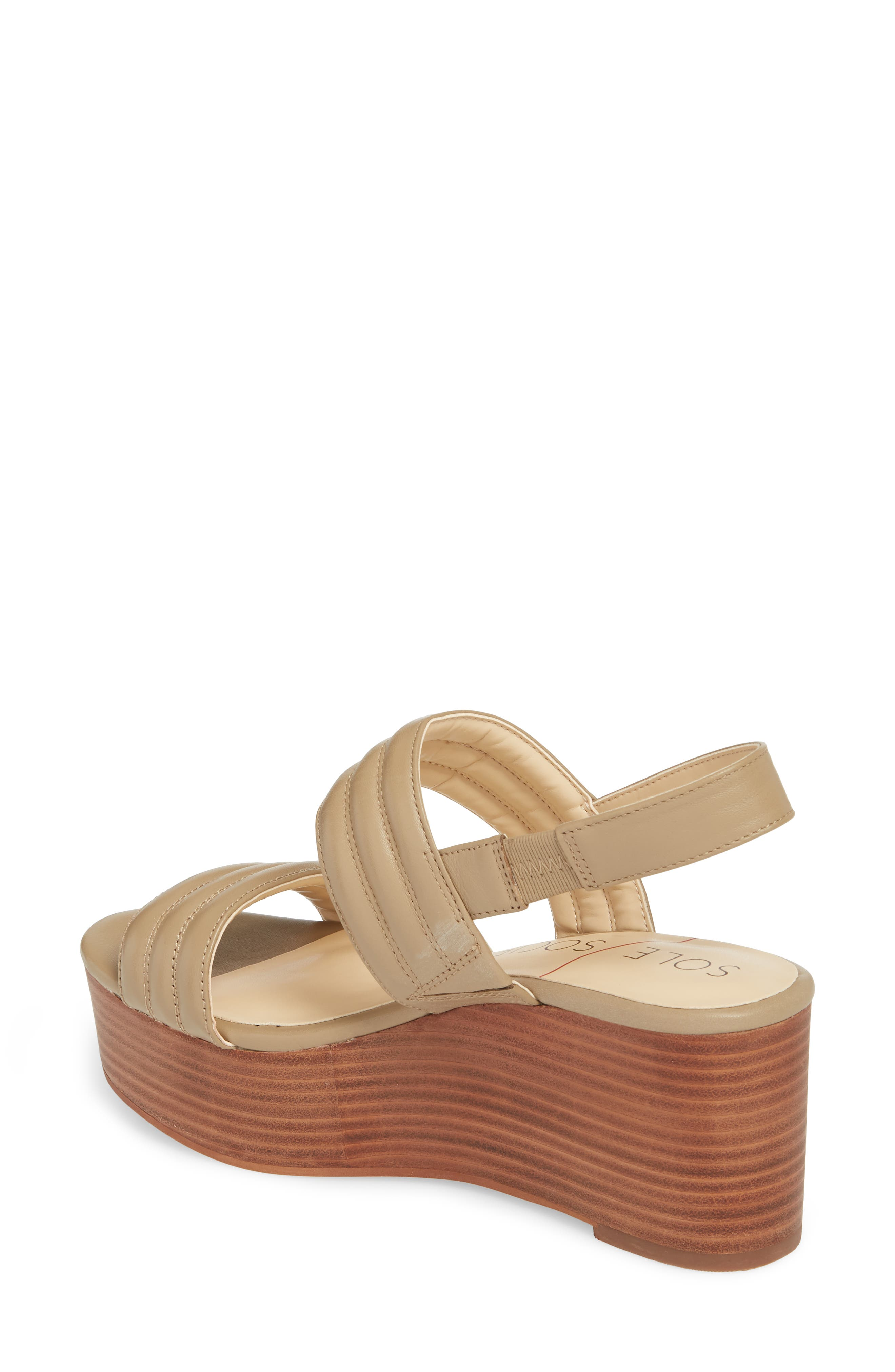 Amberly Platform Sandal,                             Alternate thumbnail 2, color,                             Night Taupe