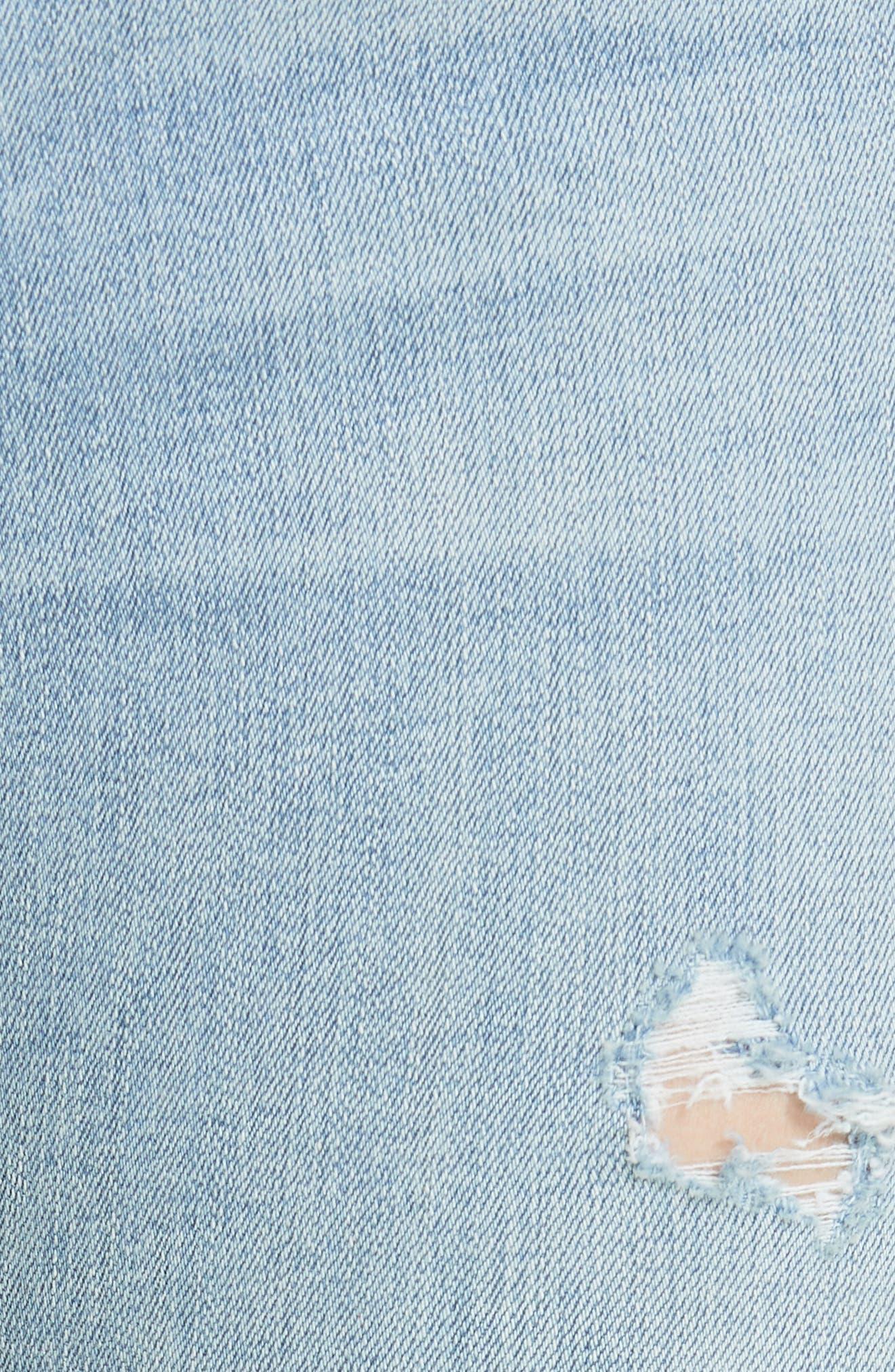 High Waist Ankle Skinny Jeans,                             Alternate thumbnail 5, color,                             Norlet