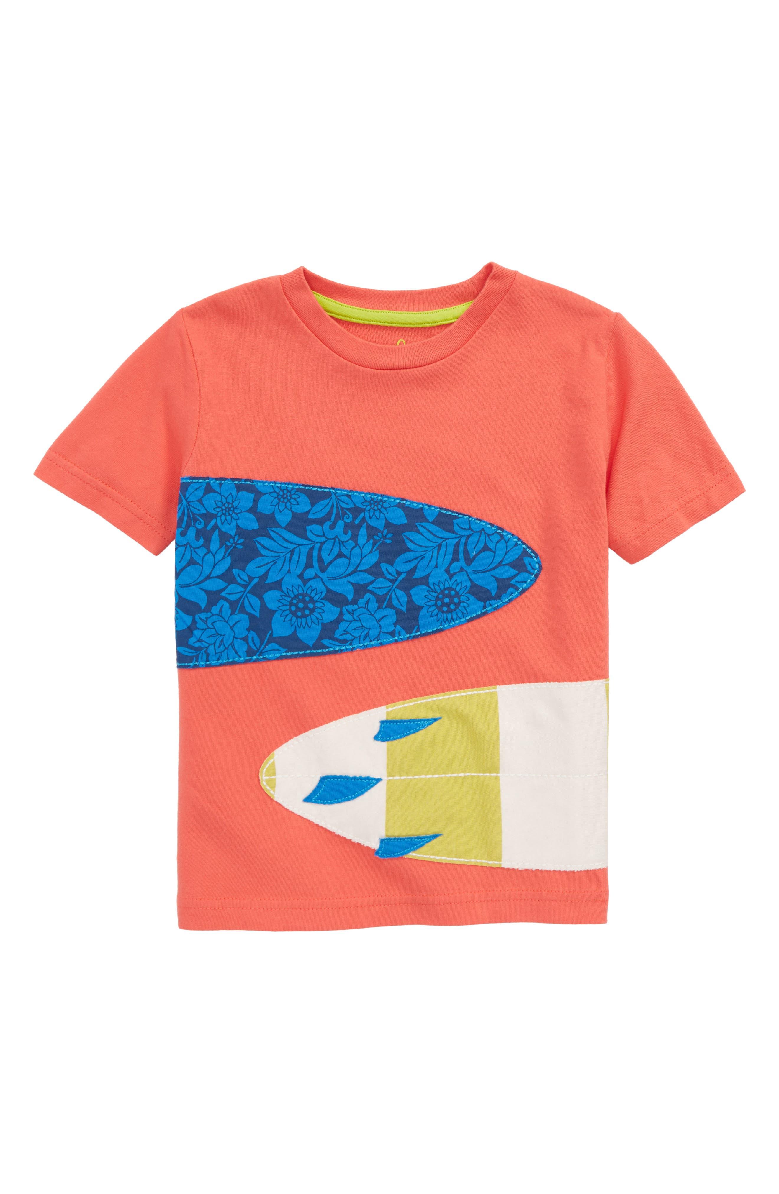 Appliqué T-Shirt,                         Main,                         color, Jam Red Surfboards