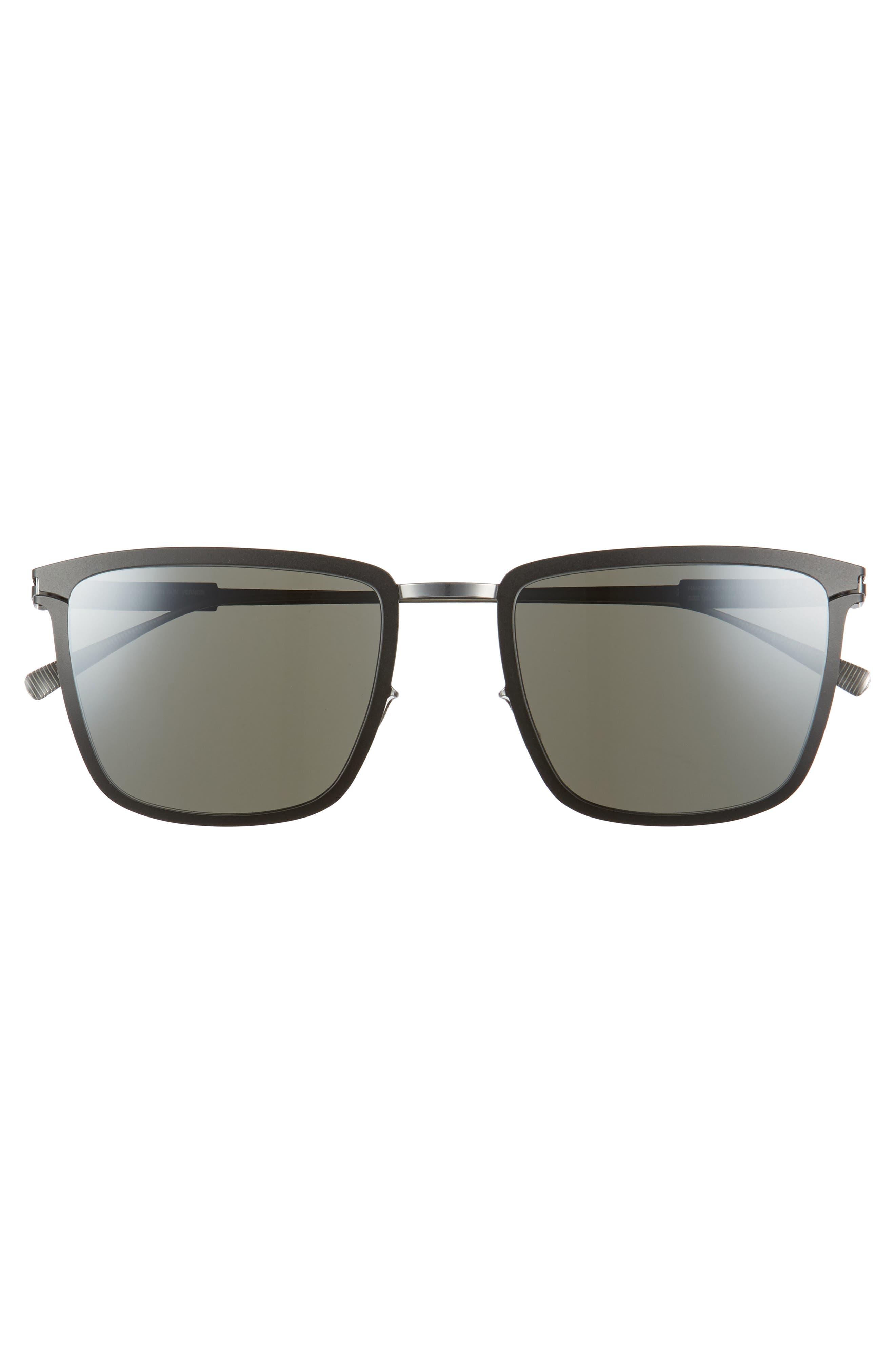 Vernon 54mm Mirrored Sunglasses,                             Alternate thumbnail 2, color,                             Silver/ Black