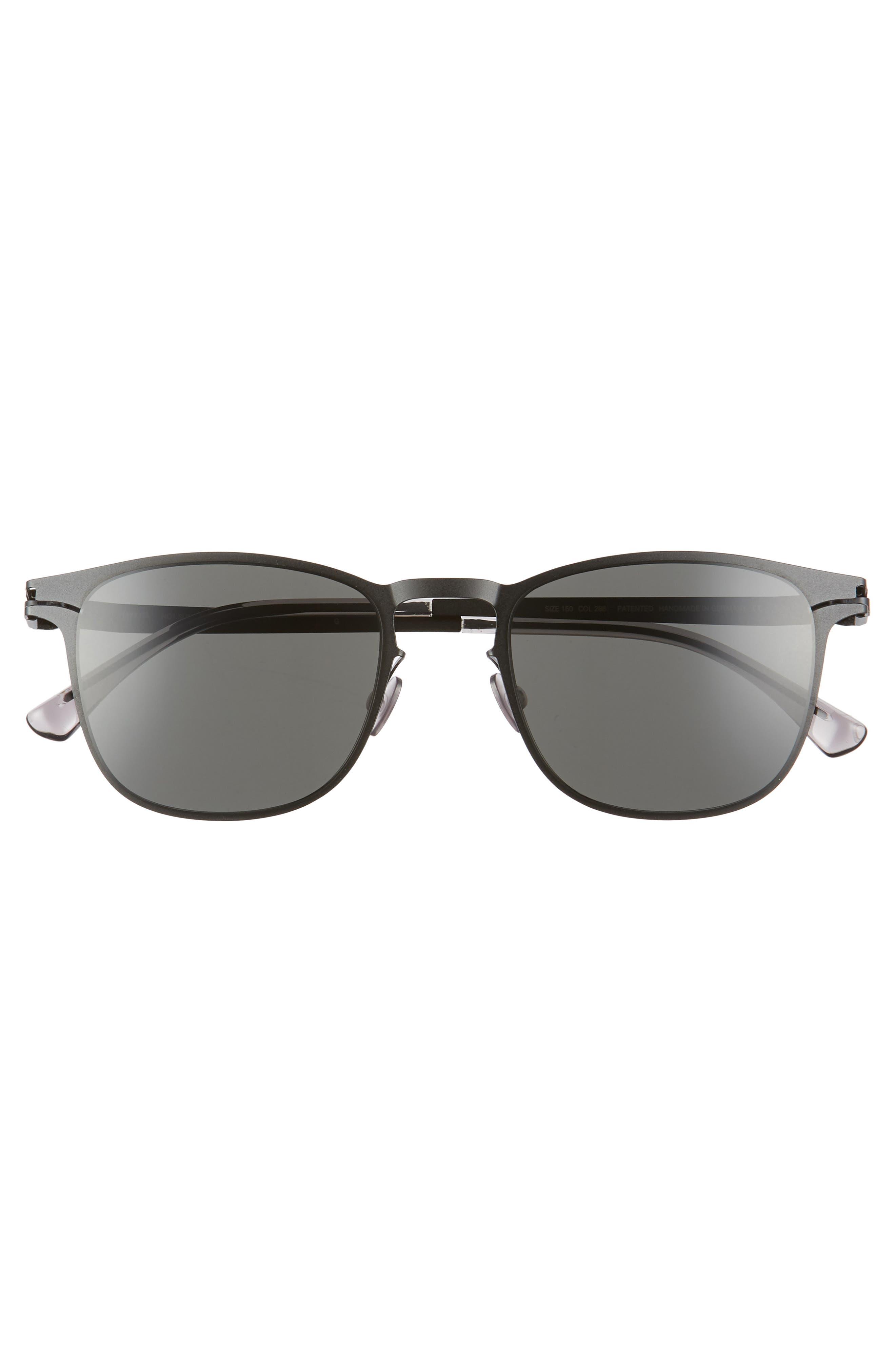Riccardo 51mm Sunglasses,                             Alternate thumbnail 2, color,                             Matte Black