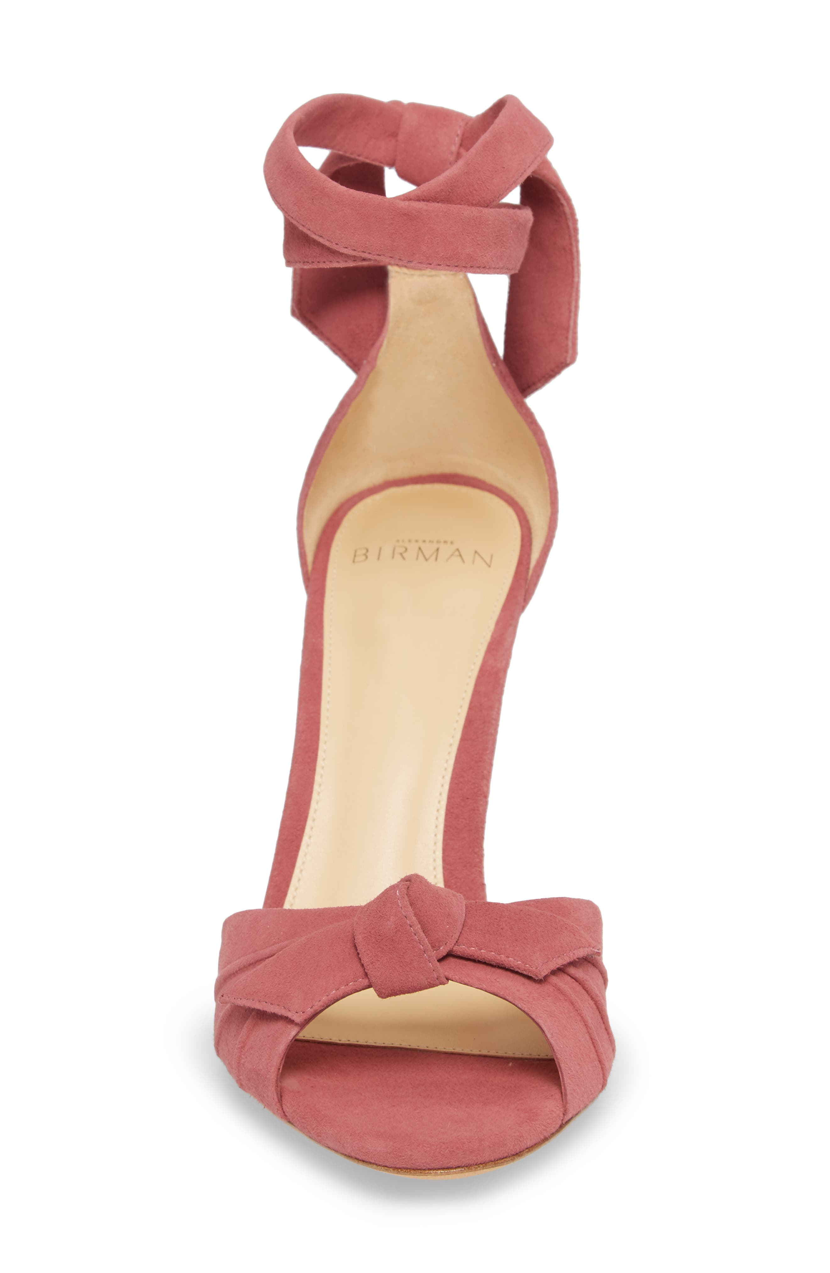 Clarita Ankle Tie Sandal,                             Alternate thumbnail 4, color,                             Dusty Rose