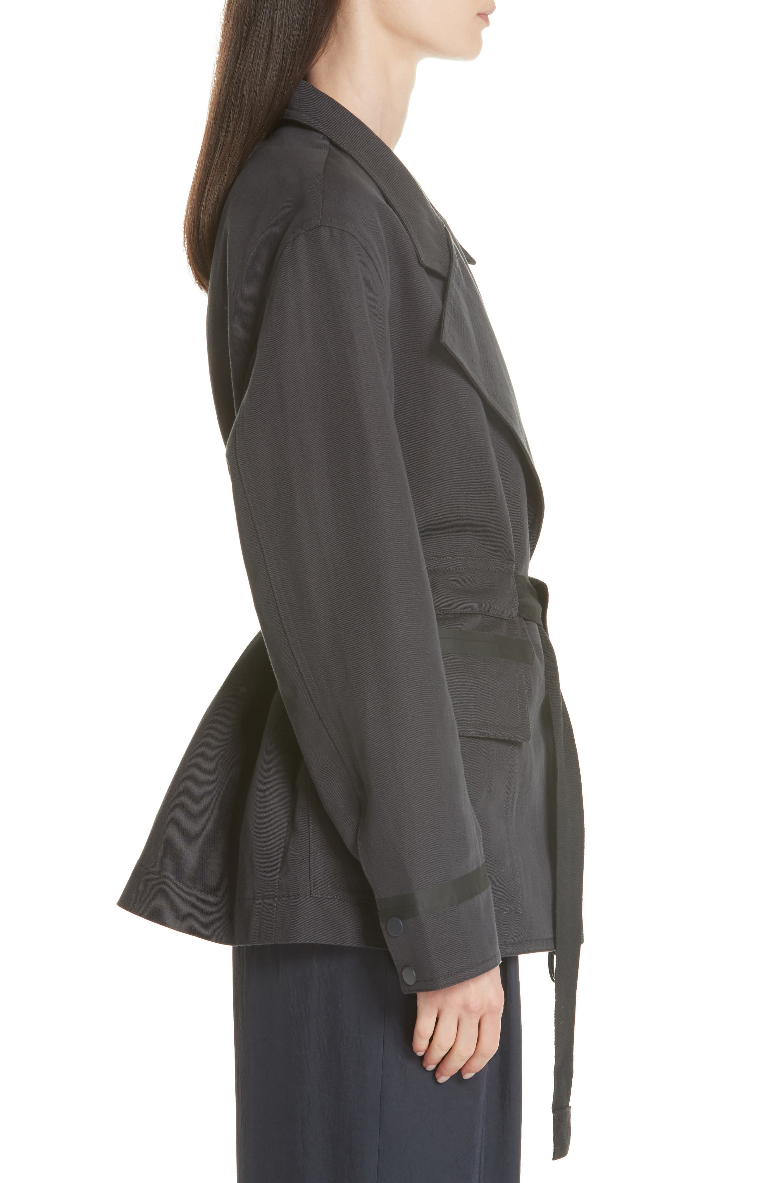 Belted Utility Jacket,                             Alternate thumbnail 5, color,                             Slate