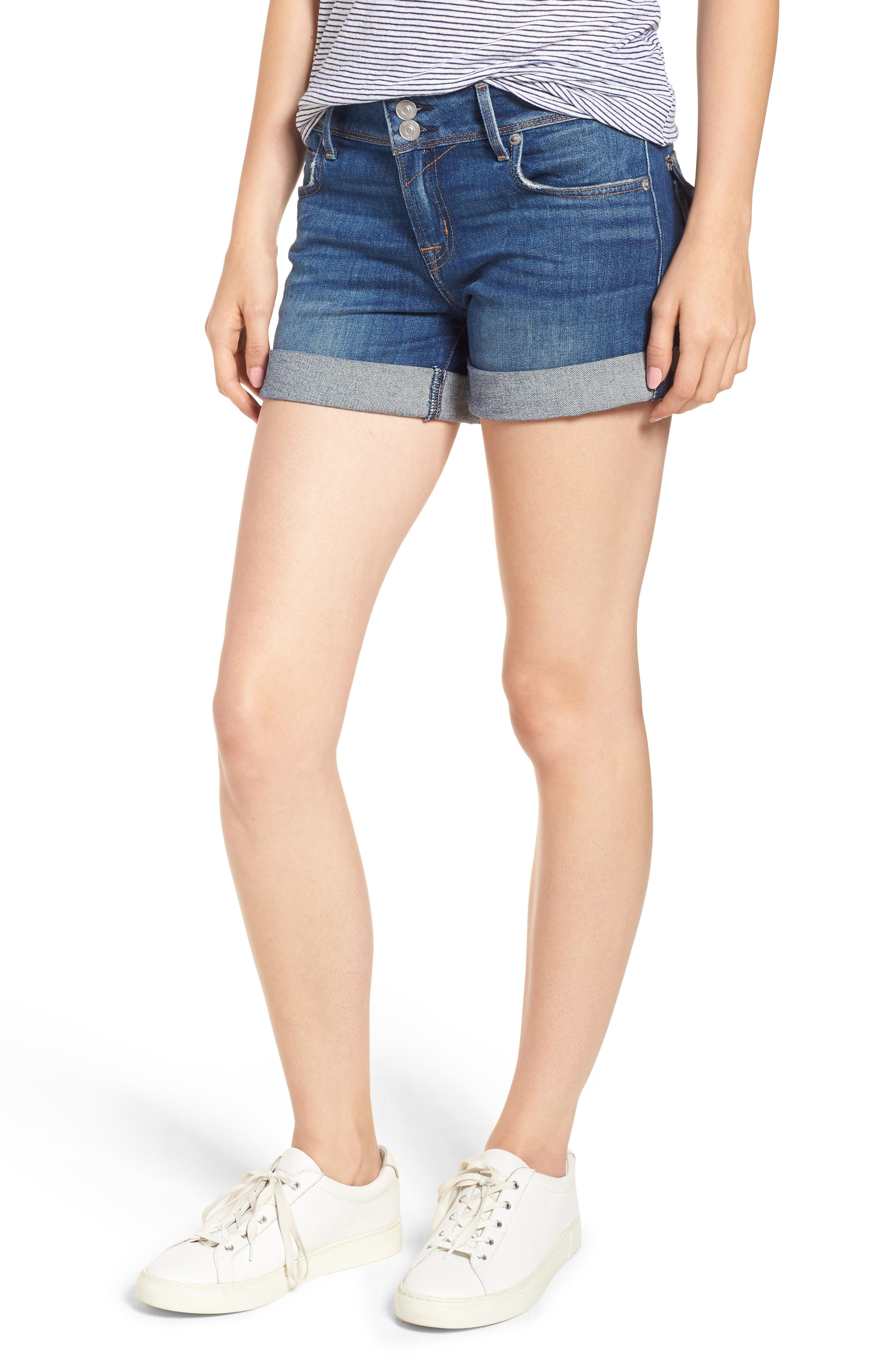 Hudson Jeans Ramona Cuffed Denim Shorts (Evasion)