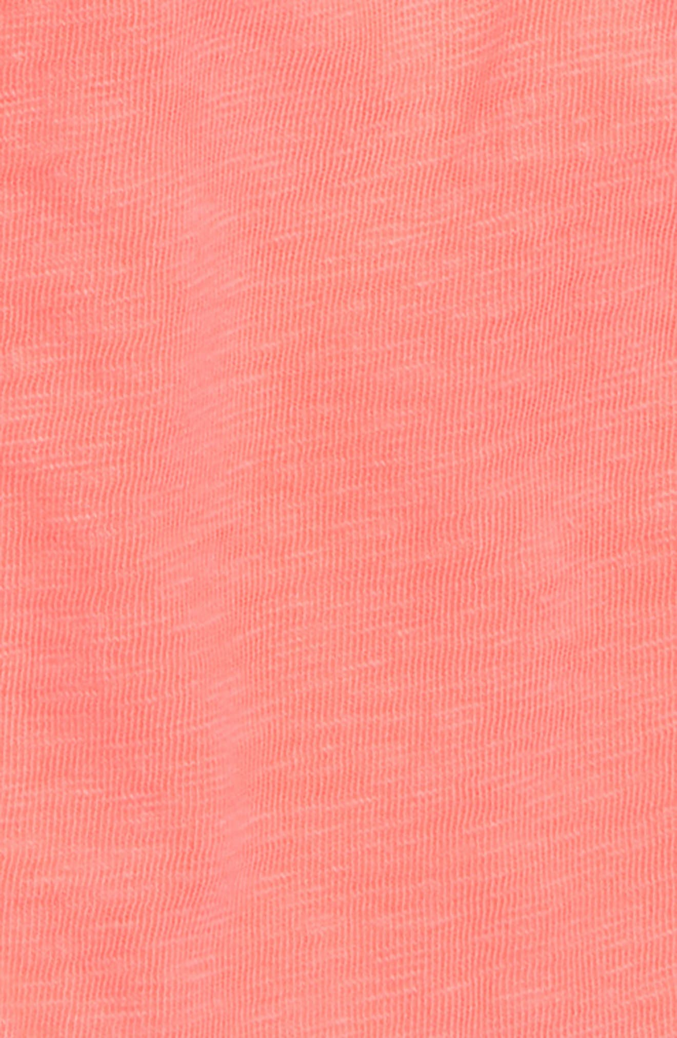 Ester Cotton Shorts,                             Alternate thumbnail 2, color,                             Neon Flamingo