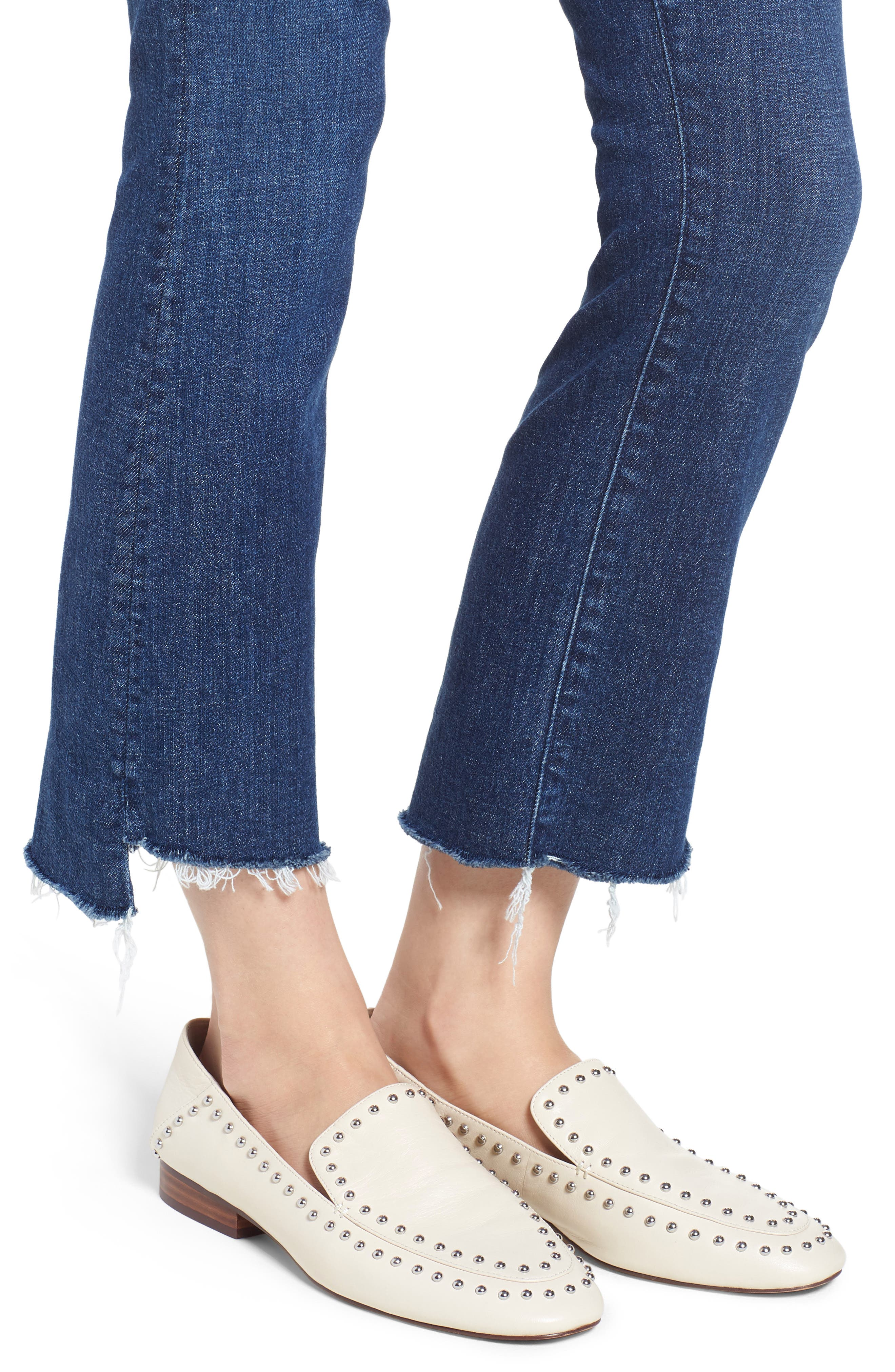 'The Insider' Crop Step Fray Jeans,                             Alternate thumbnail 4, color,                             Crushing It