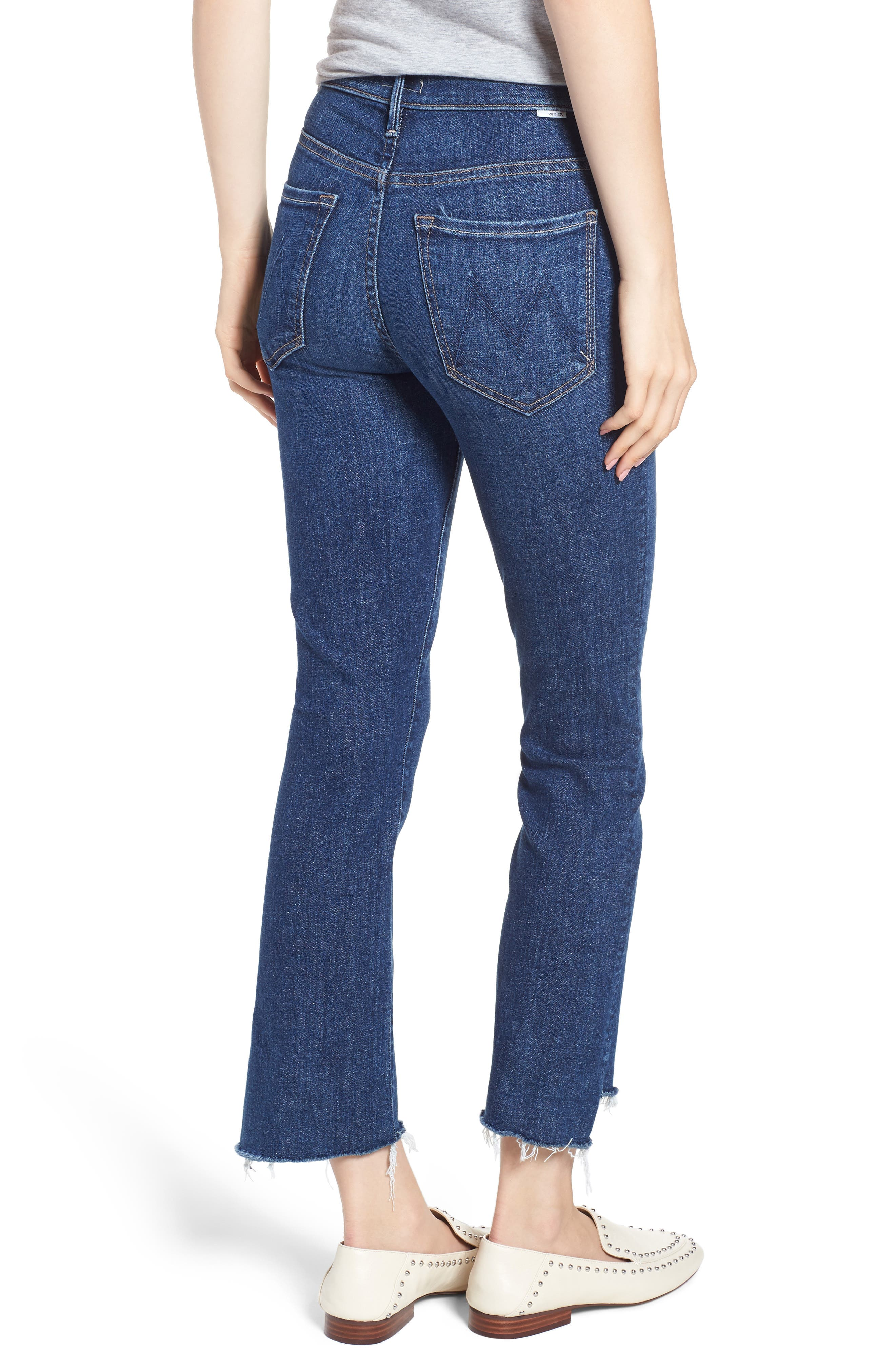 'The Insider' Crop Step Fray Jeans,                             Alternate thumbnail 2, color,                             Crushing It