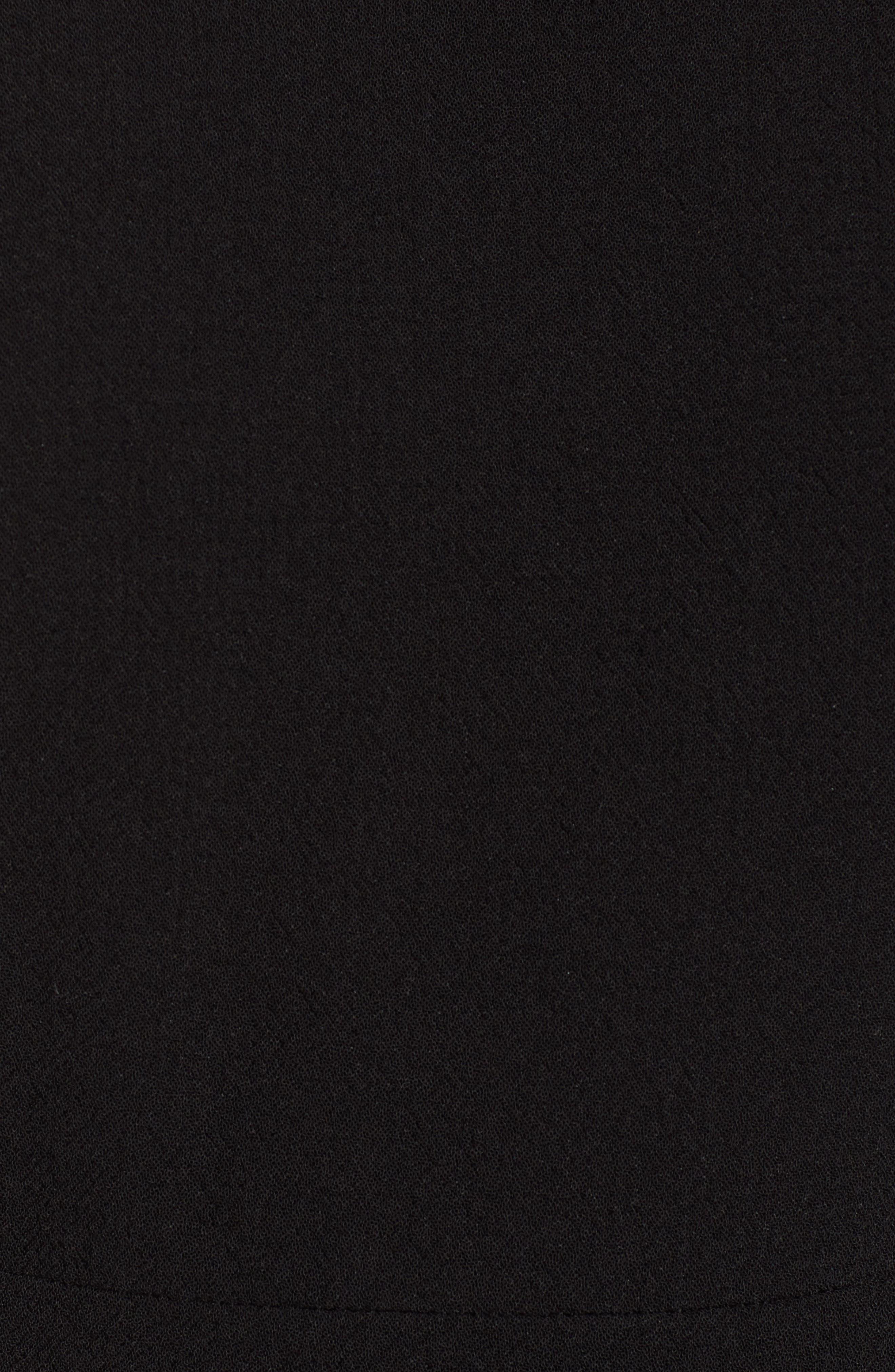 Ruffle Front Dress,                             Alternate thumbnail 6, color,                             Black