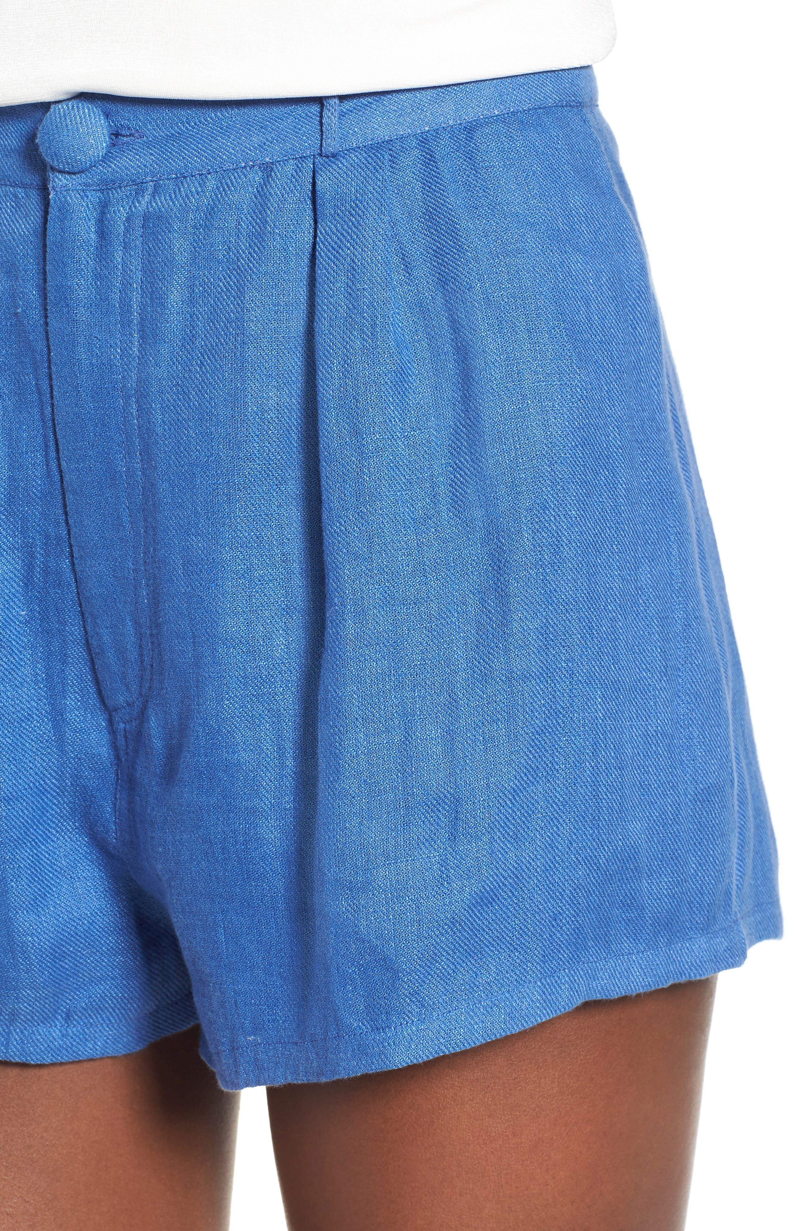 Jordy High Waist Shorts,                             Alternate thumbnail 5, color,                             Blue
