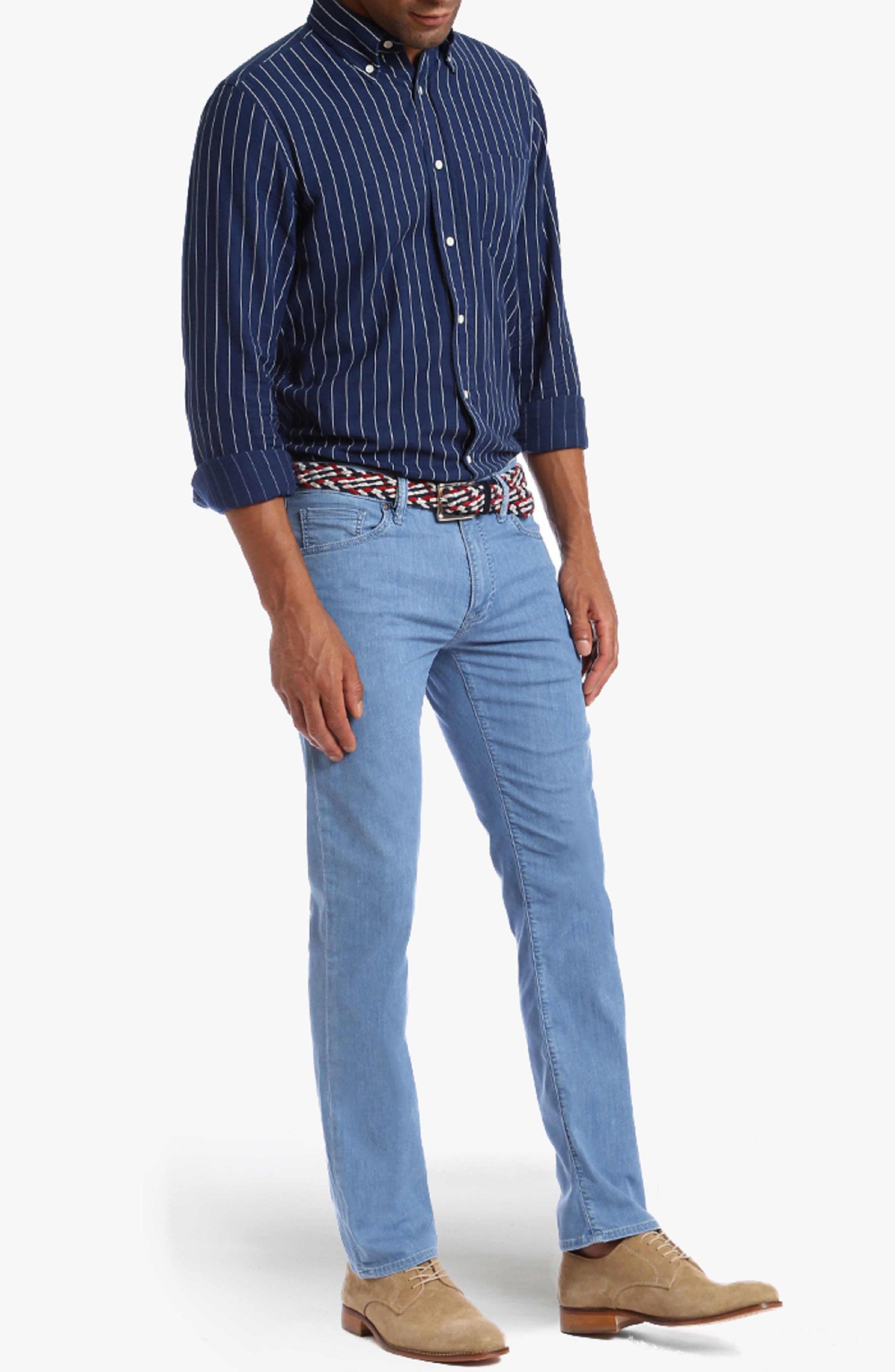 Charisma Relaxed Fit Jeans,                             Alternate thumbnail 4, color,                             Light Maui Denim