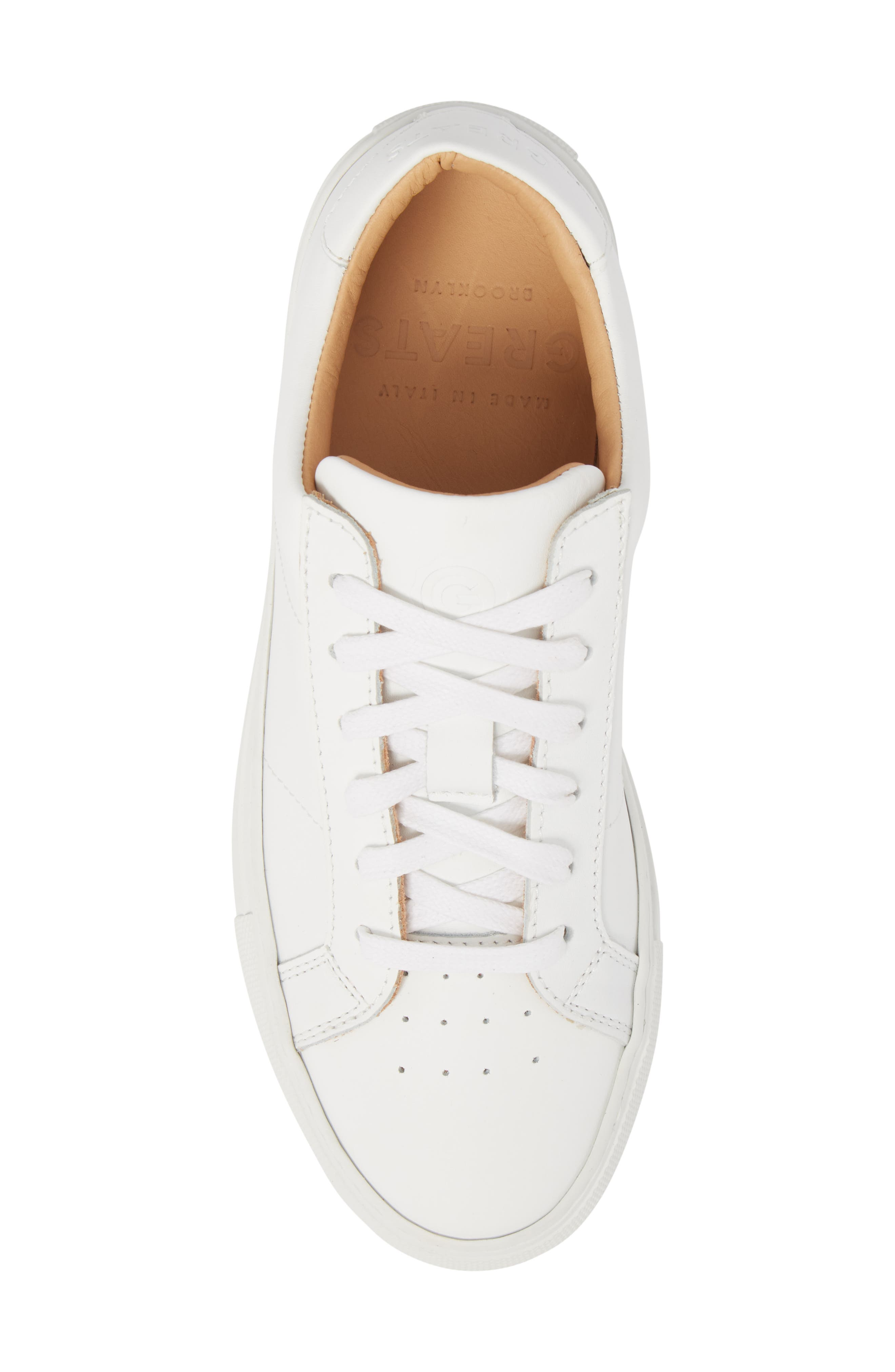 Royale Sneaker,                             Alternate thumbnail 5, color,                             White Flat Leather