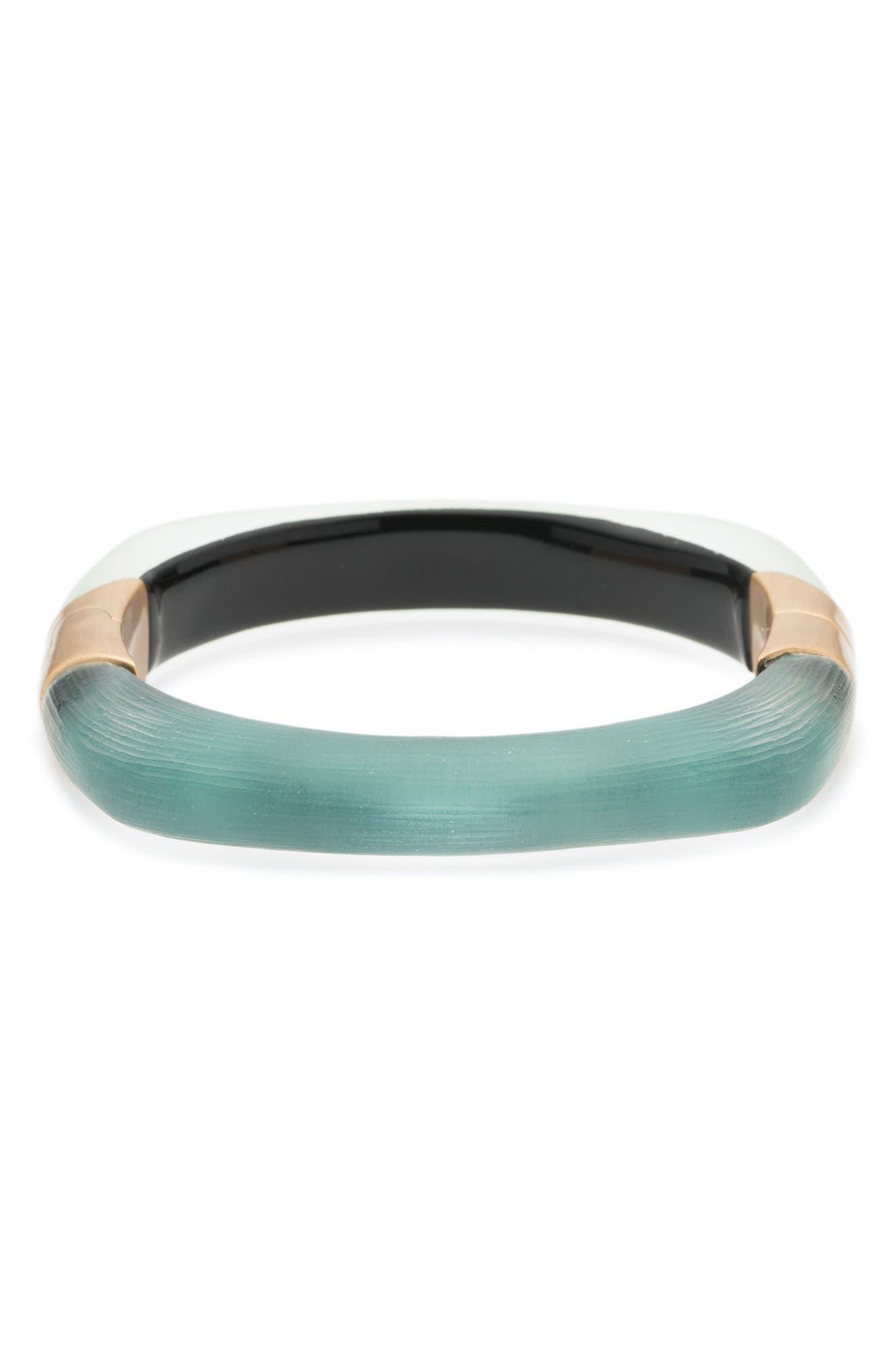Alexis Bittar Square Colorblocked Hinge Bracelet
