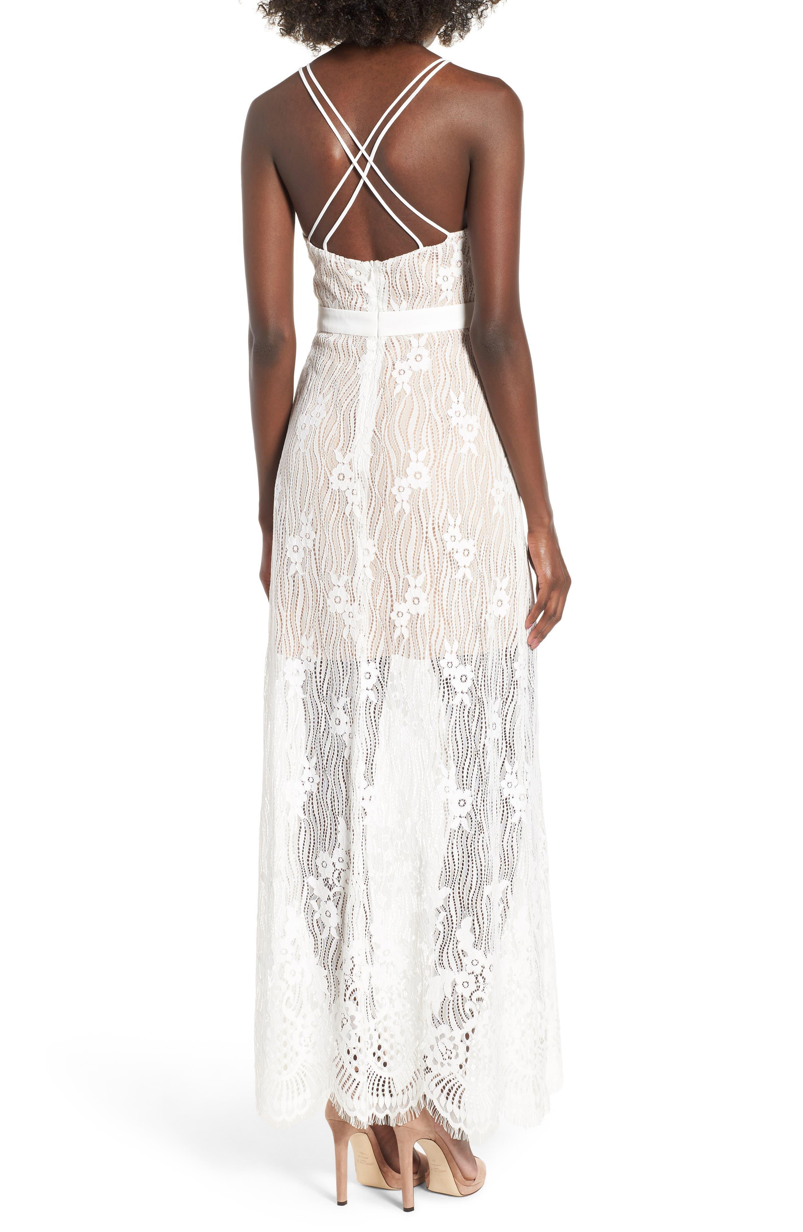 Blake Lace Maxi Dress,                             Alternate thumbnail 2, color,                             Ivory Lace