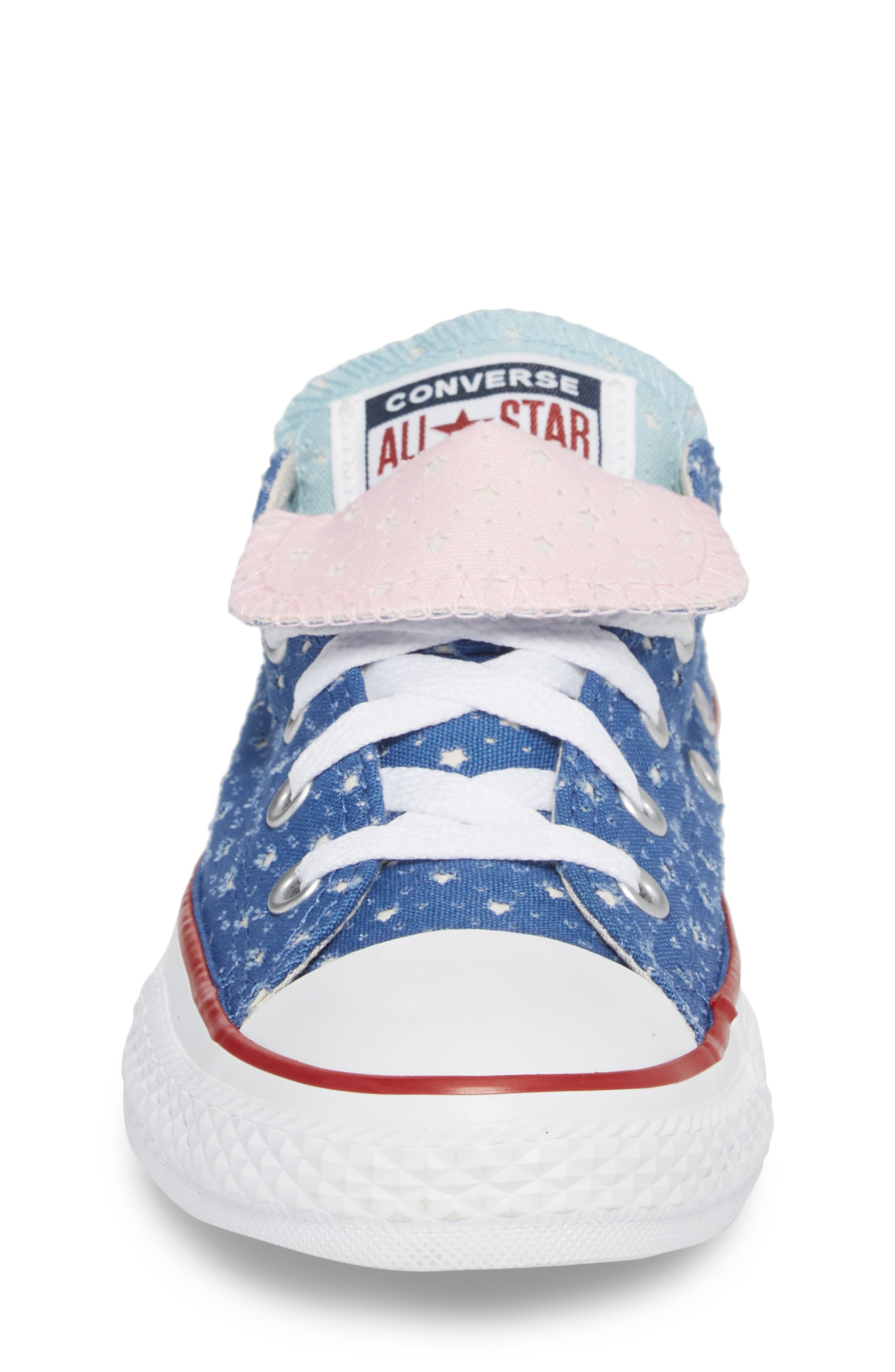 Chuck Taylor<sup>®</sup> All Star<sup>®</sup> Double Tongue Sneaker,                             Alternate thumbnail 4, color,                             Nightfall Blue
