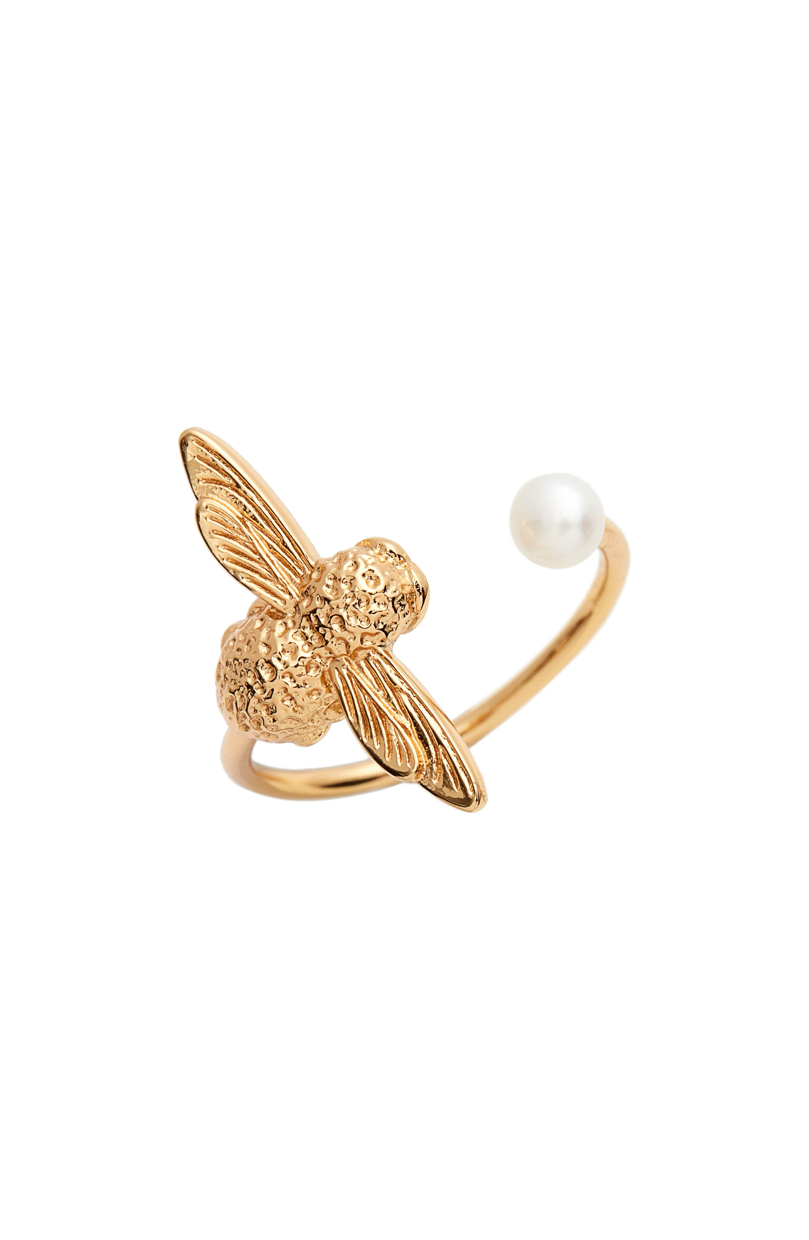 PEARL BEE RING