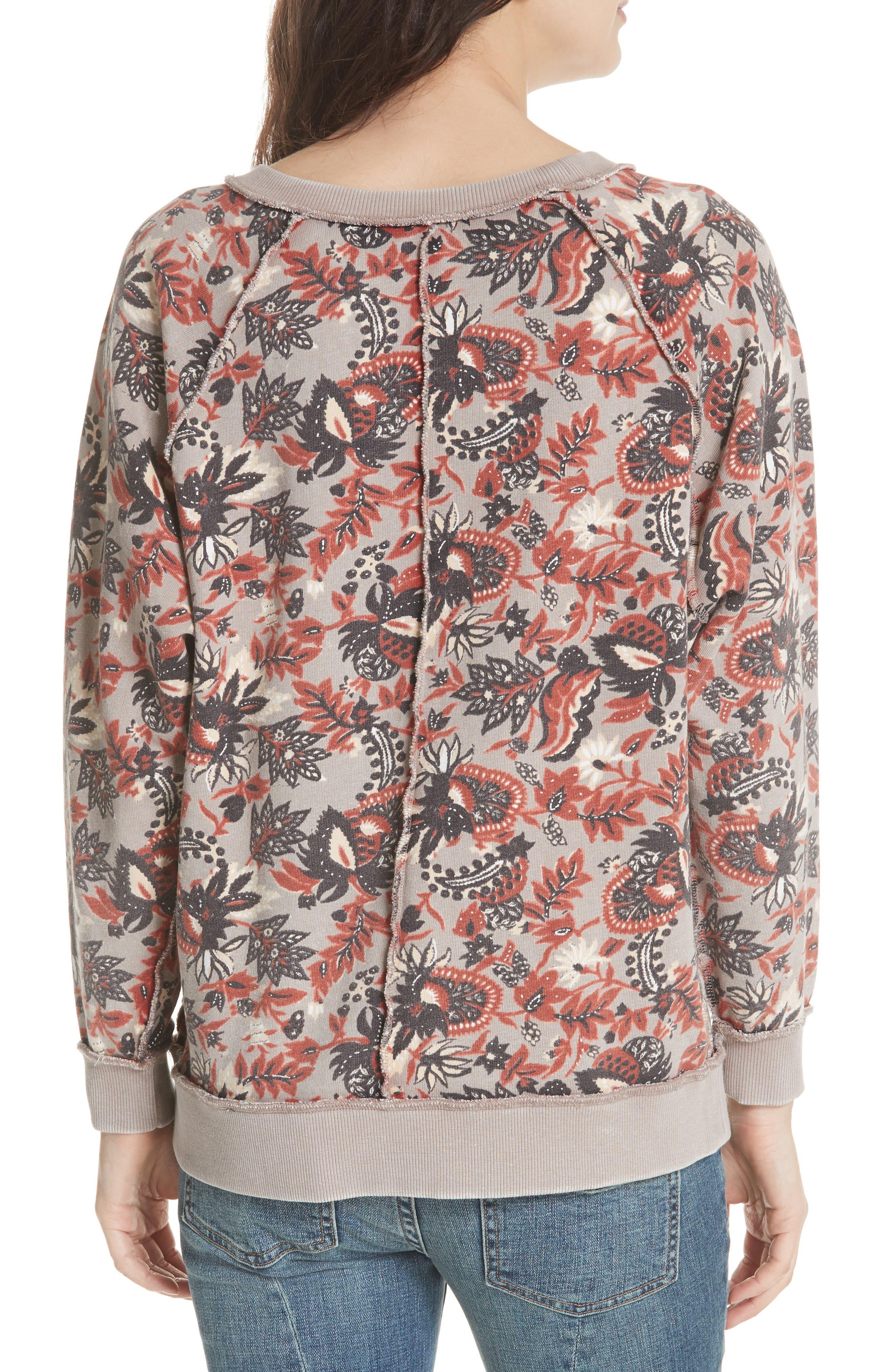 Go on Get Floral Sweatshirt,                             Alternate thumbnail 2, color,                             Brown