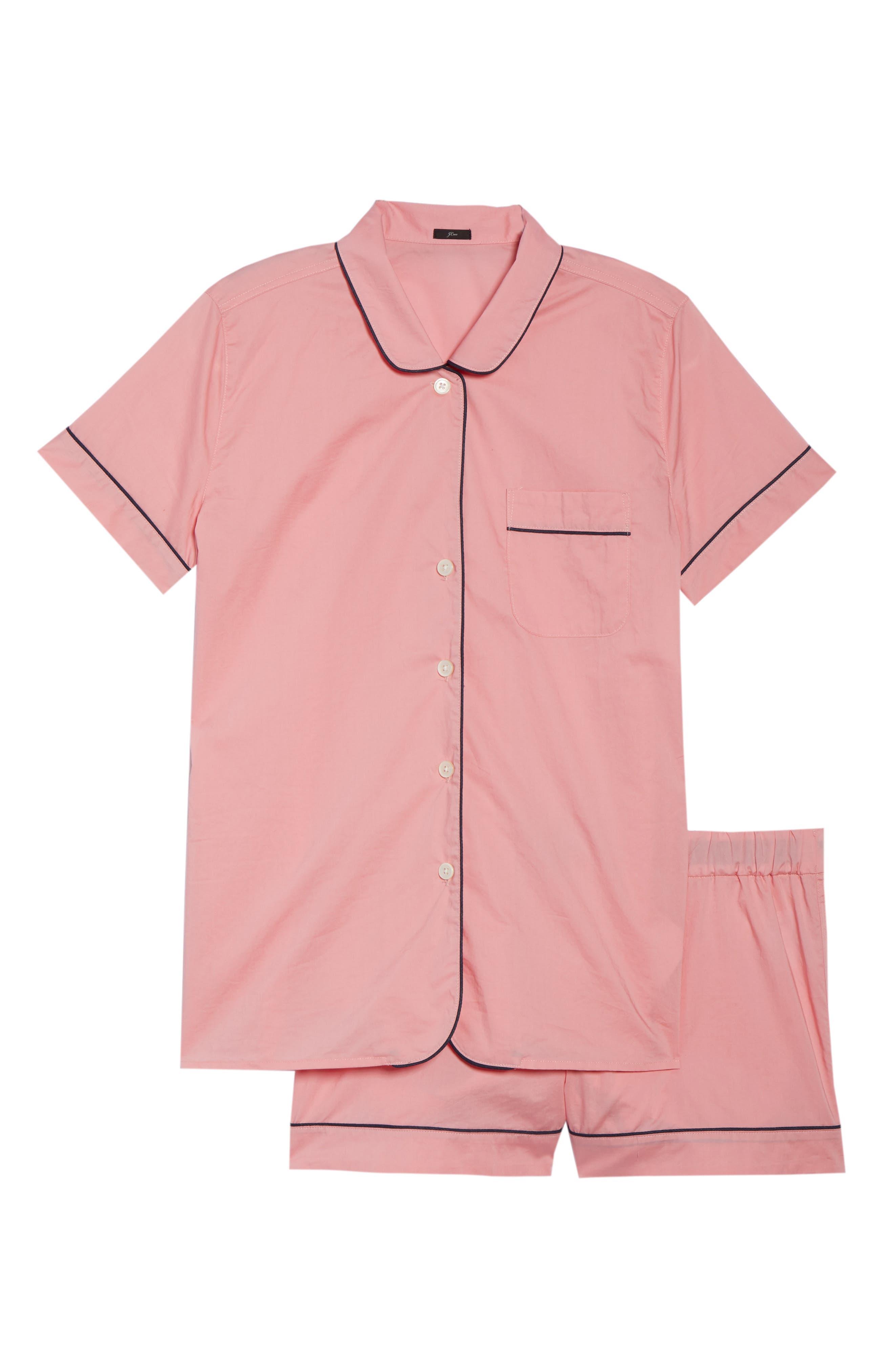Tipped Short Pajamas,                             Alternate thumbnail 6, color,                             Cool Pink