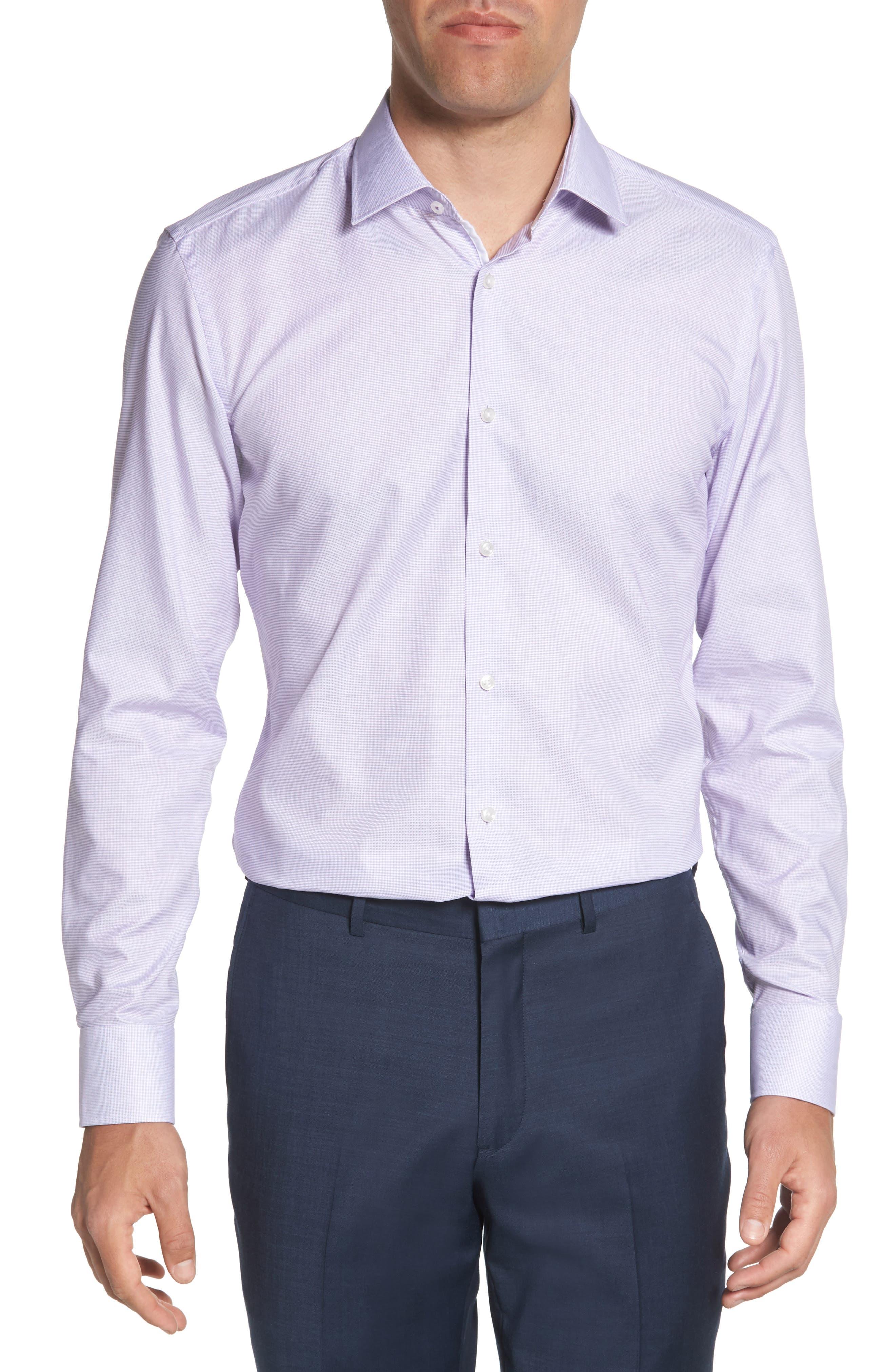 Jesse Slim Fit Dress Shirt,                         Main,                         color, Purple